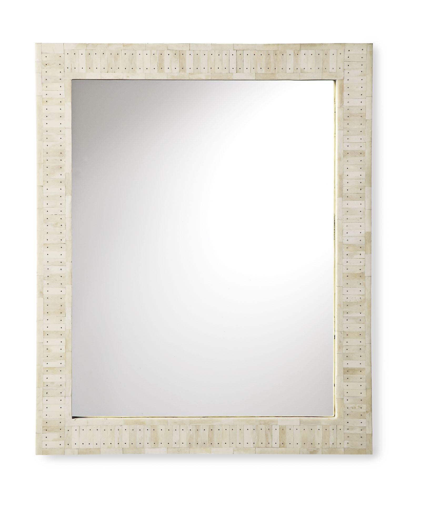 Parsons Wall Mirror Bone Inlay