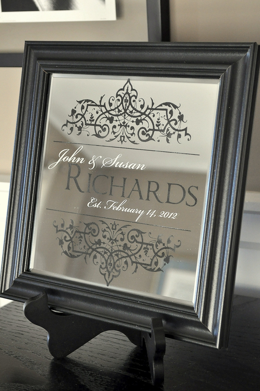 Personalized Engraved Wall Mirrors