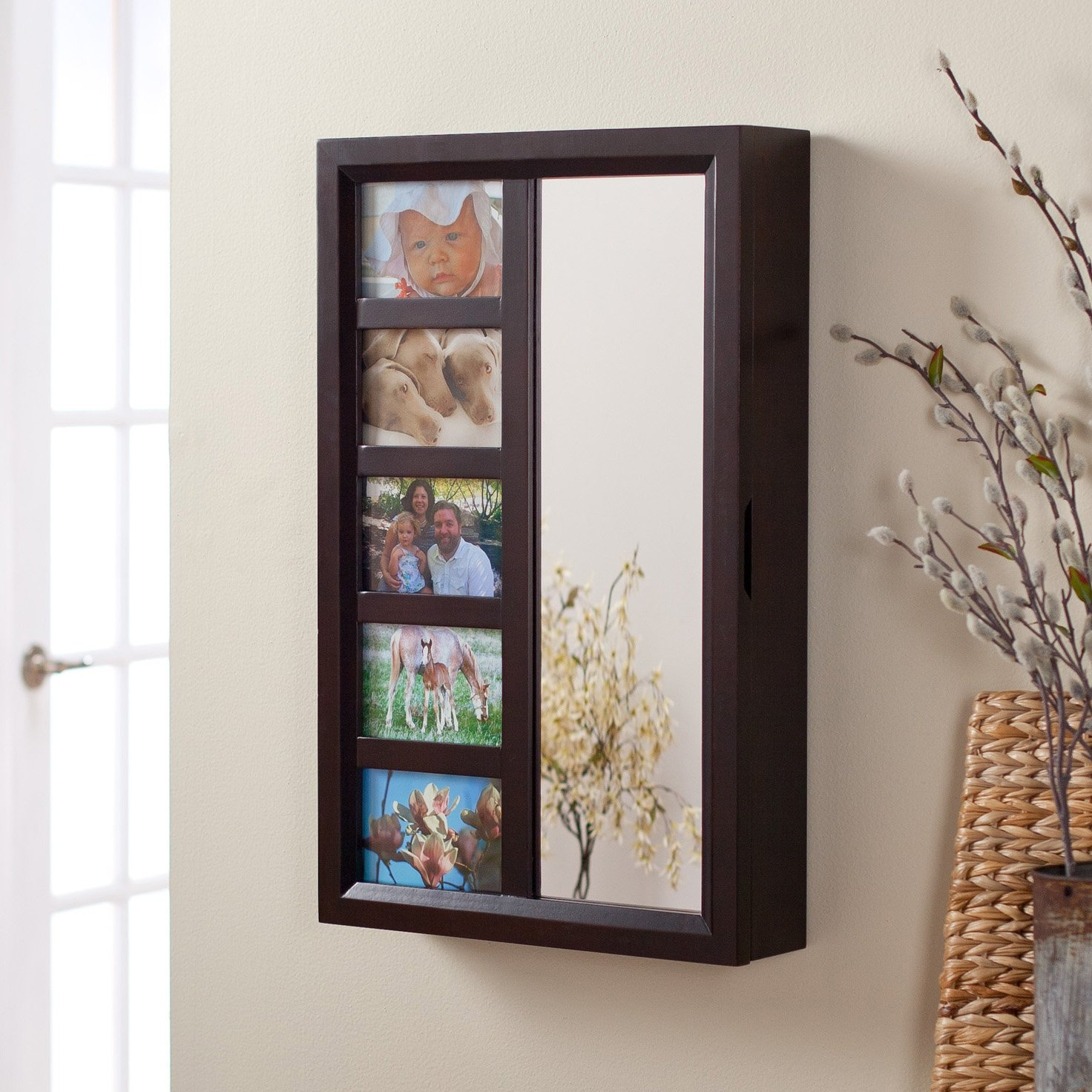 Photo Frames Wall Mount Jewelry Armoire Mirror