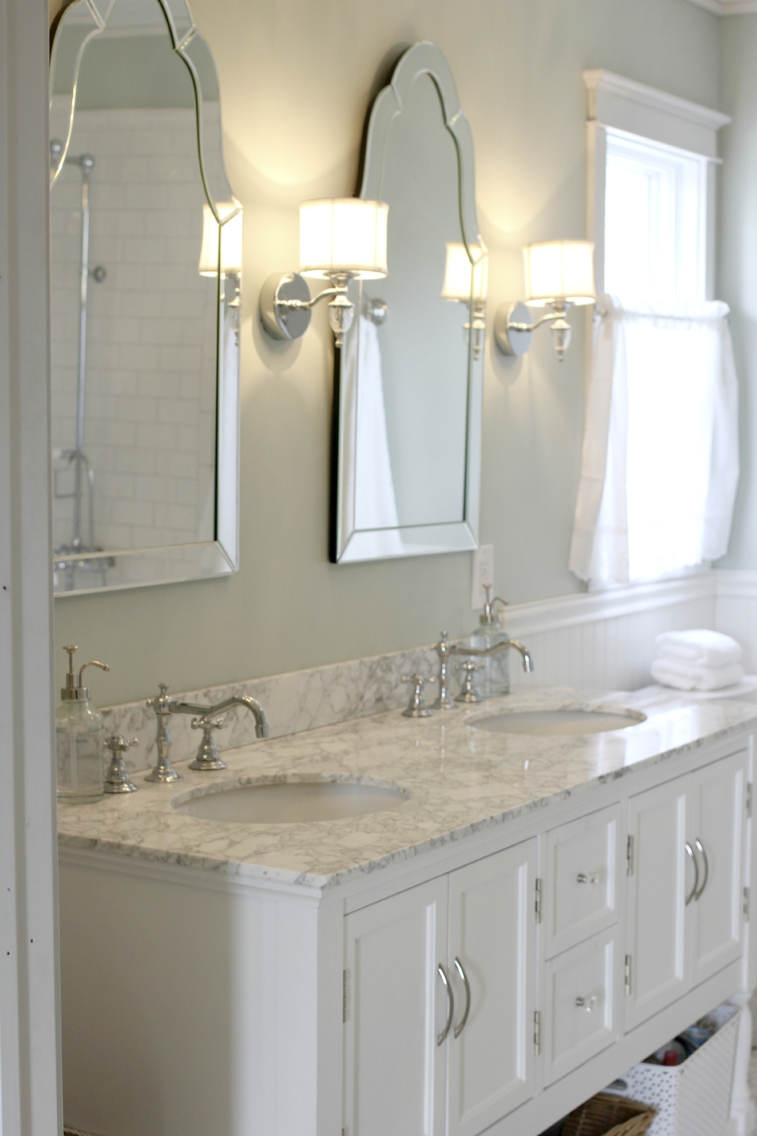Pictures Of Bathroom Mirrors And Sconces