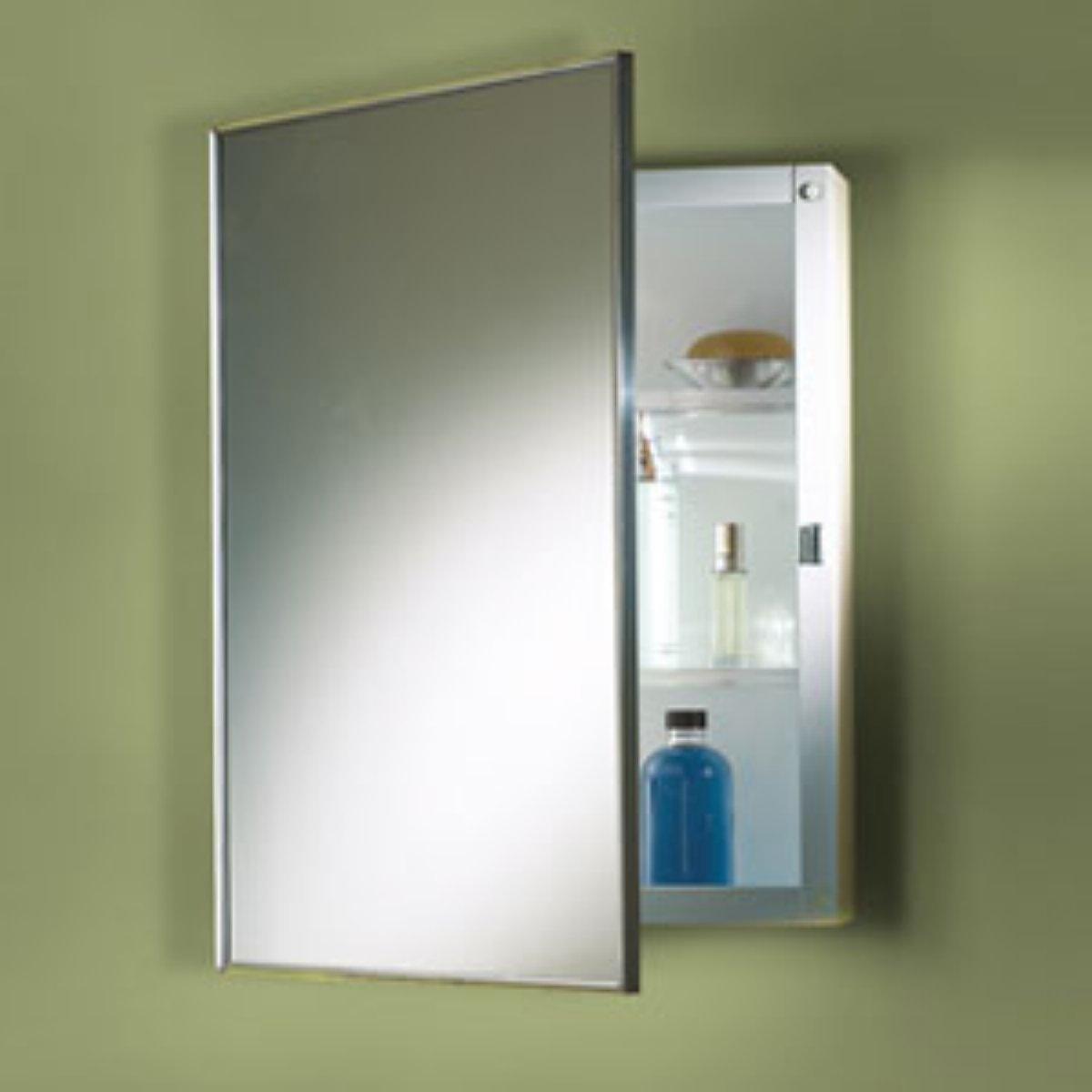 Pine Bathroom Mirror Cabinet