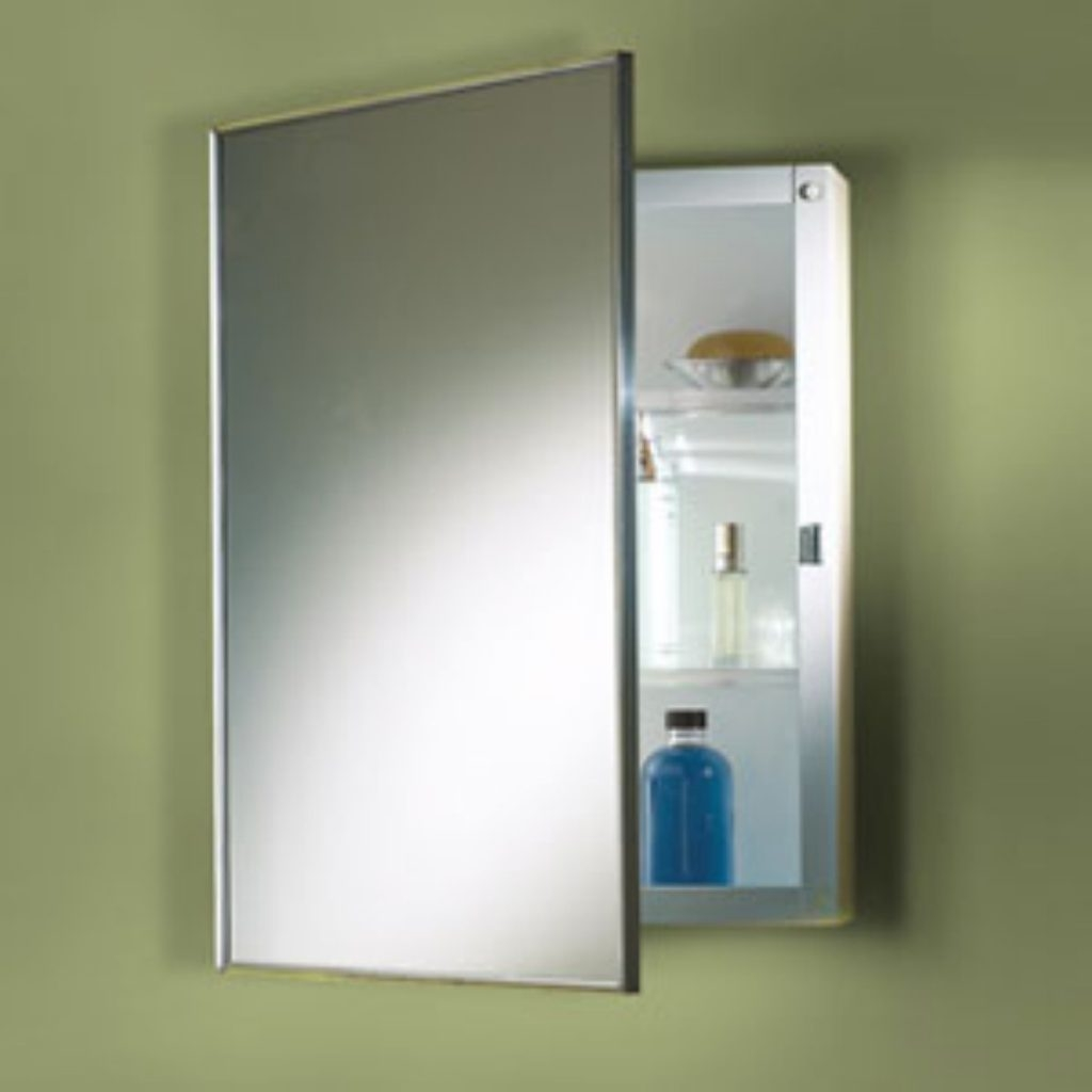 Pine Bathroom Wall Cabinet With Mirror