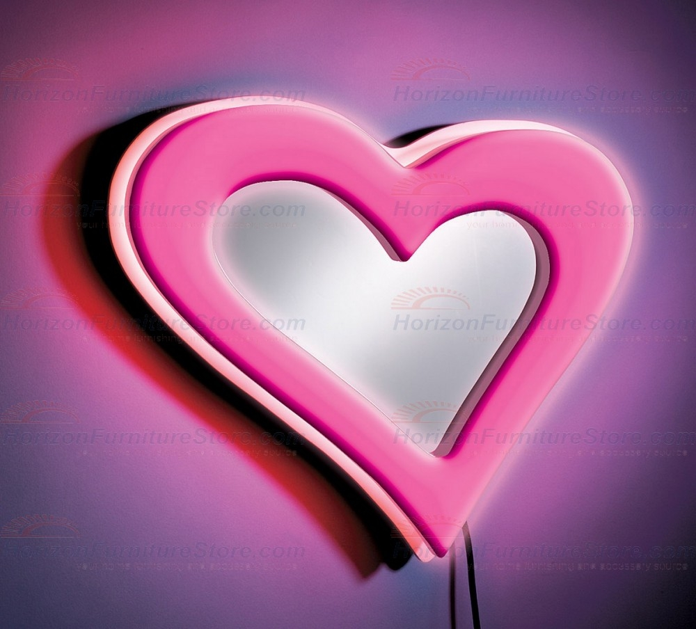Pink Heart Wall Mirror