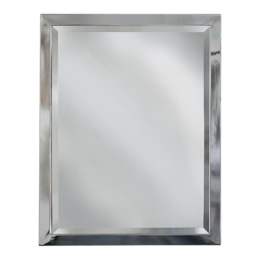 Polished Chrome Framed Bathroom Mirror