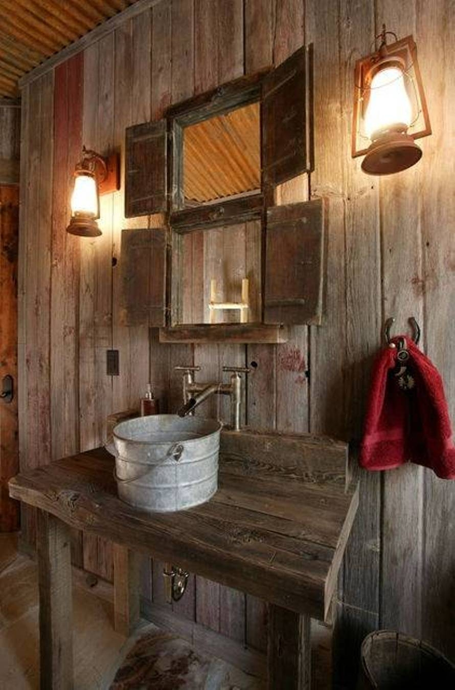 Primitive Country Bathroom Mirrors