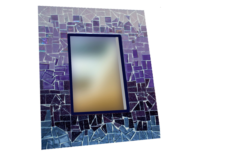 Purple Framed Wall Mirror