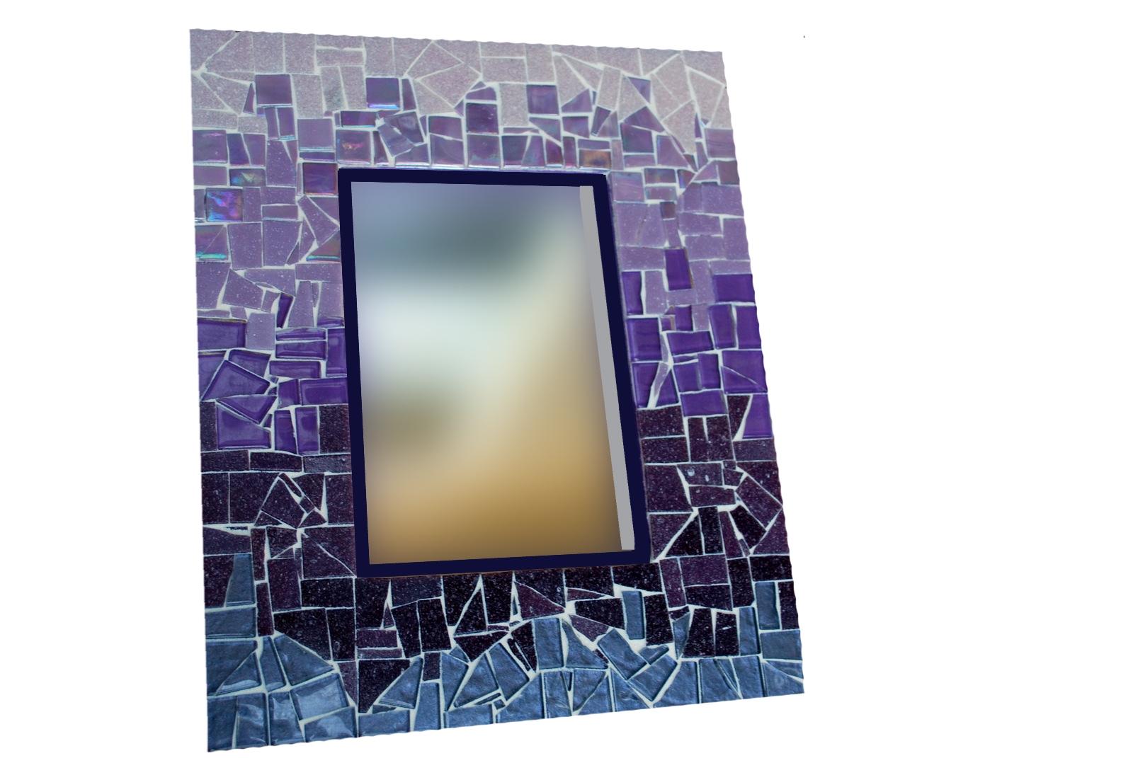 Purple Mosaic Wall Mirror
