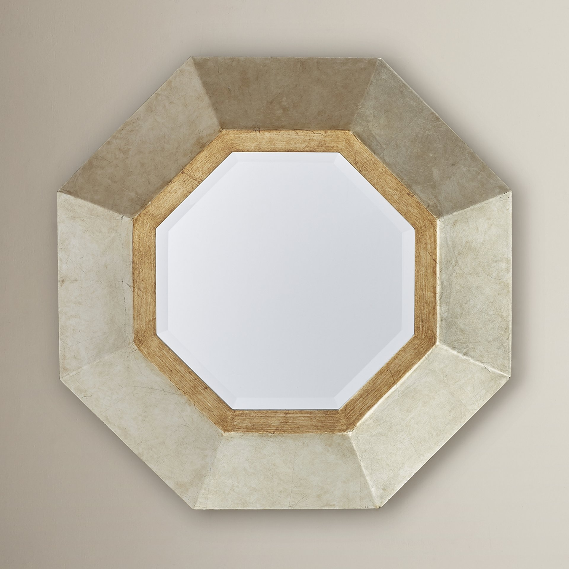 Quatrefoil Octagon Framed Wall Mirror