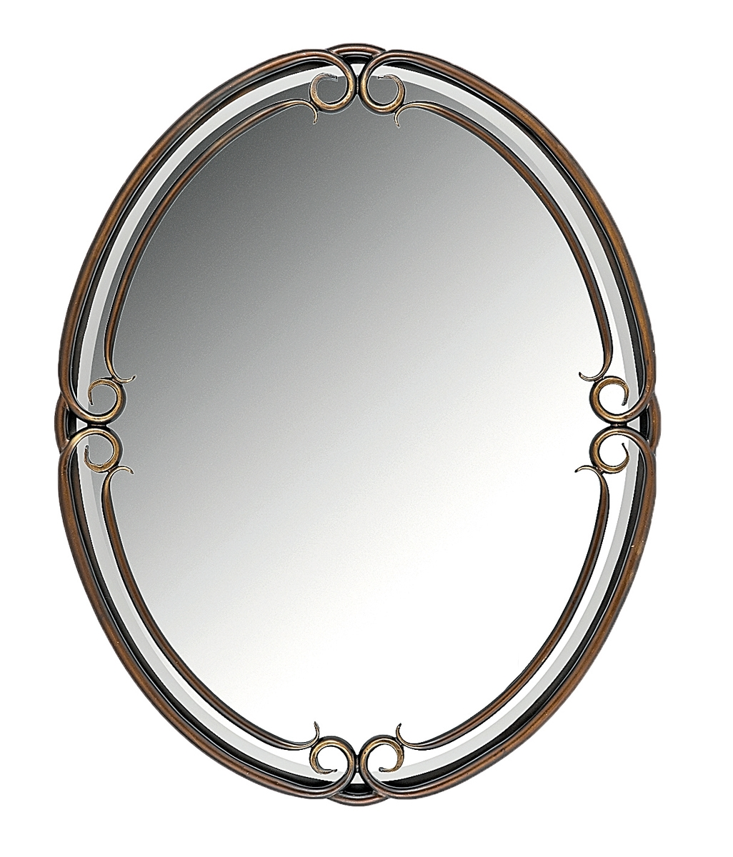 Quoizel Large Oval Duchess 40 High Wall Mirror