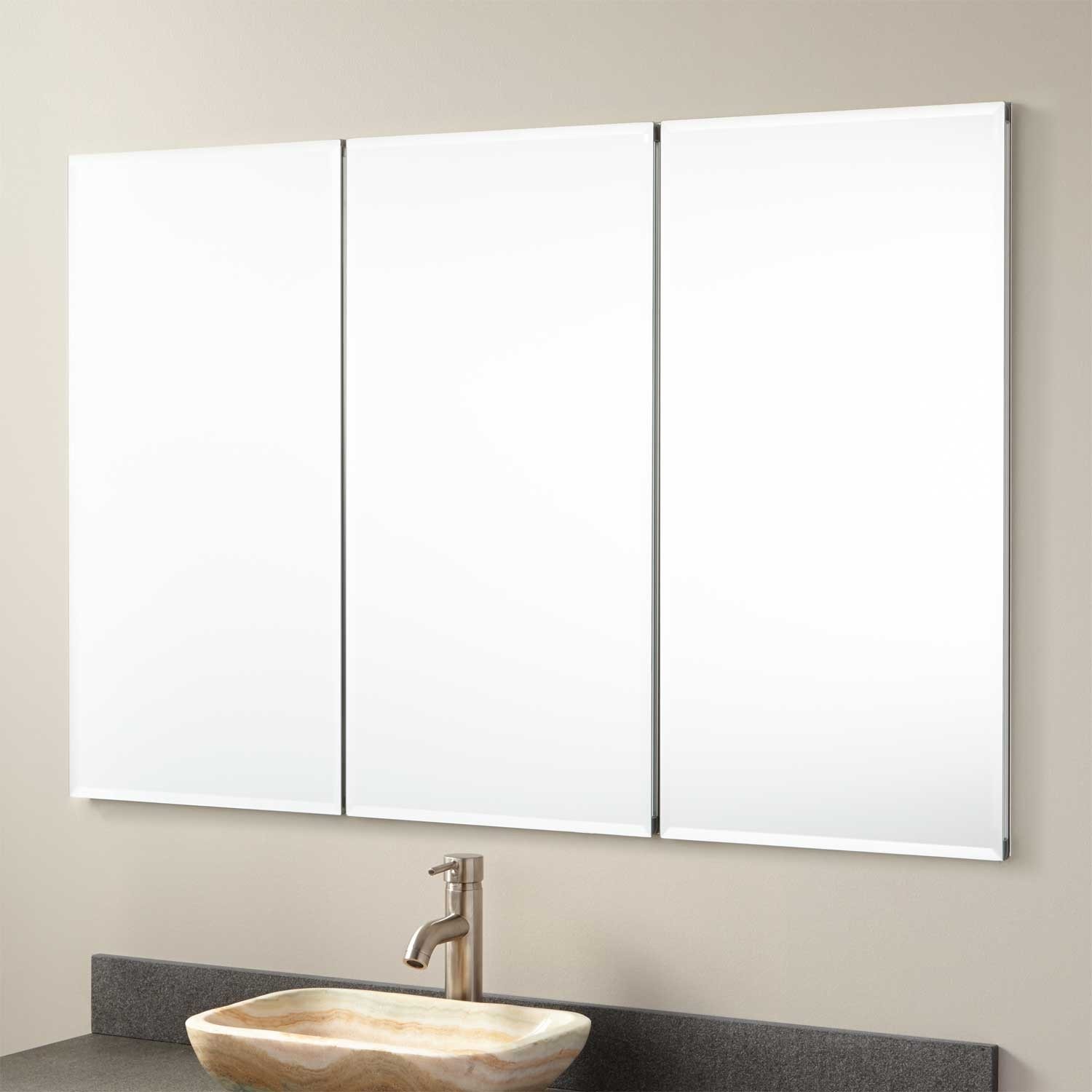 Permalink to Recessed Bathroom Mirror Medicine Cabinets