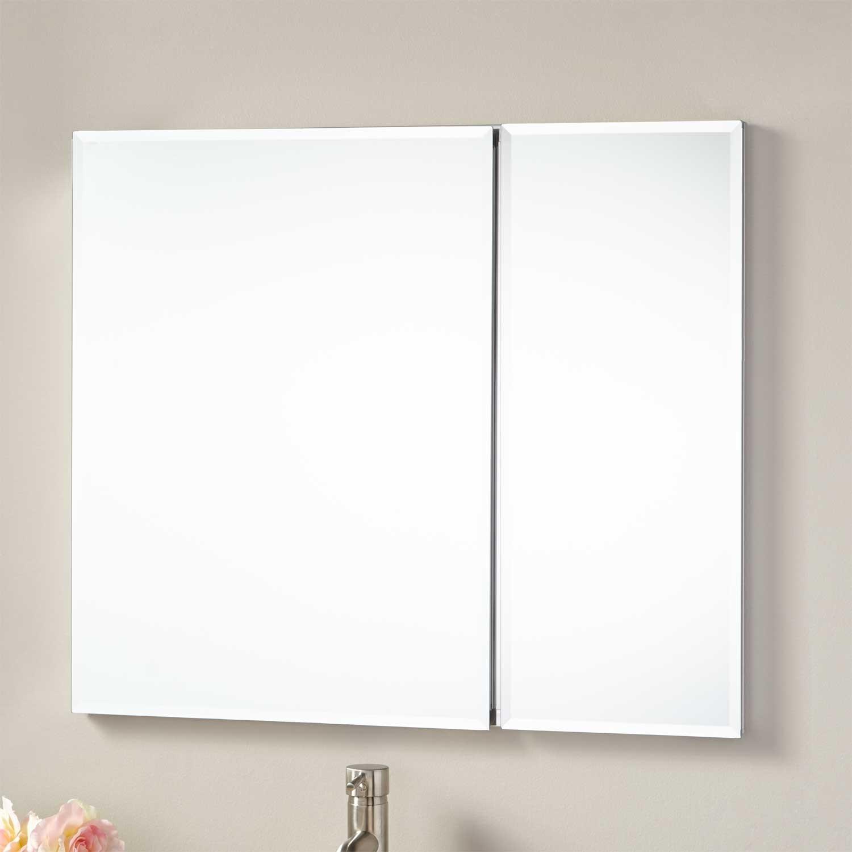 Recessed Bathroom Mirrors Cabinets