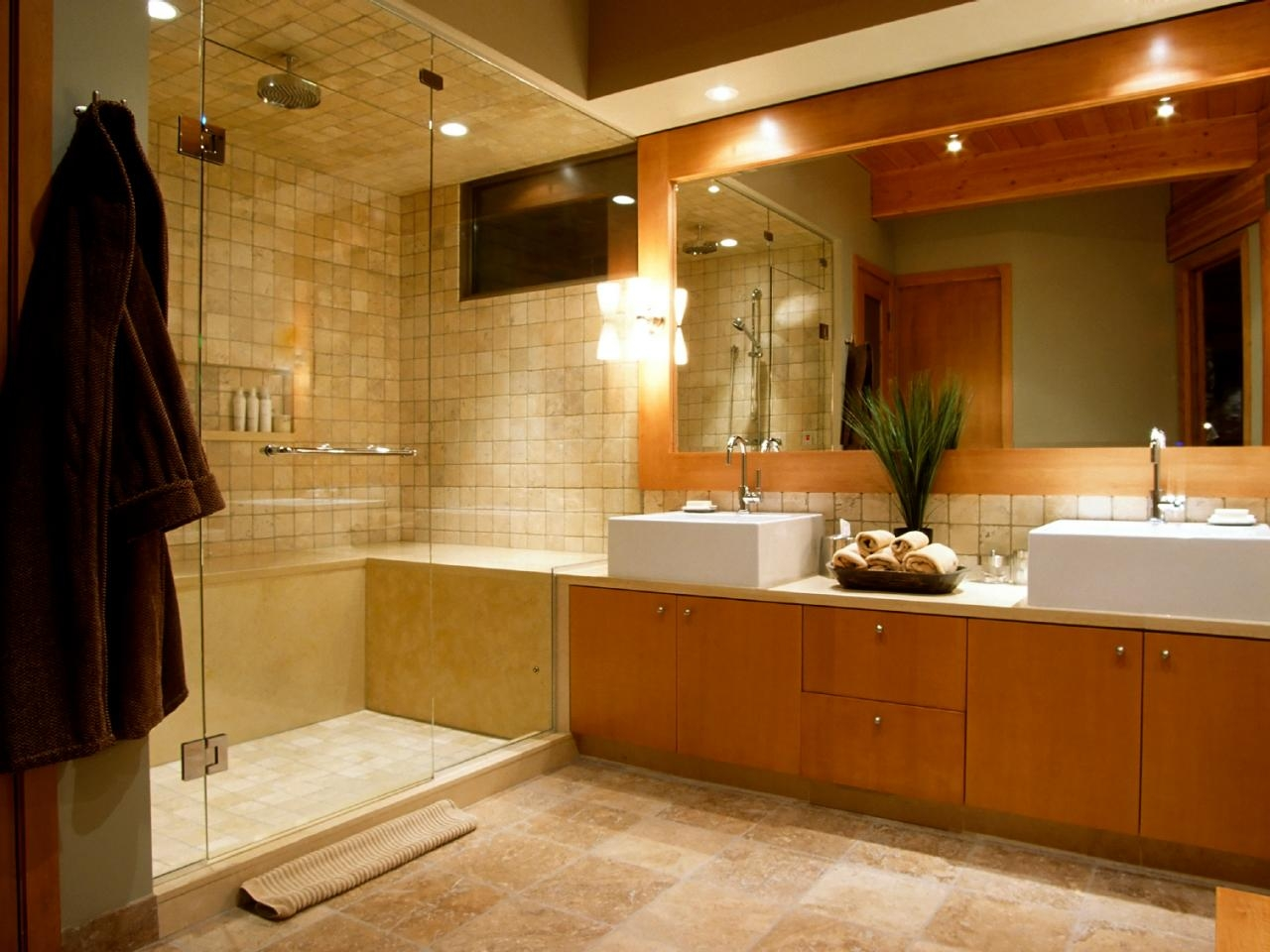 Recessed Lighting Bathroom Mirror