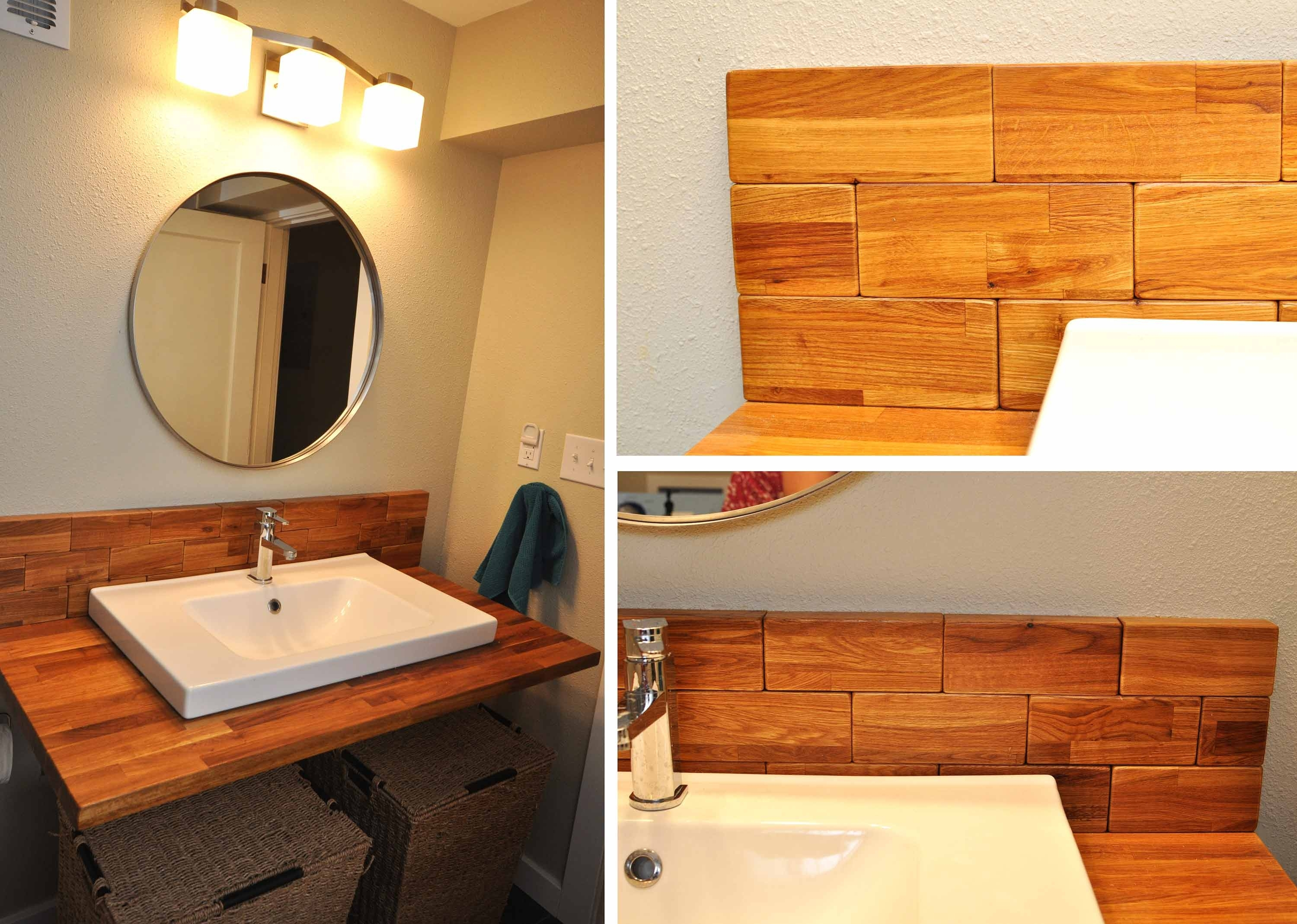 Reclaimed Wood Bathroom Vanity Mirror