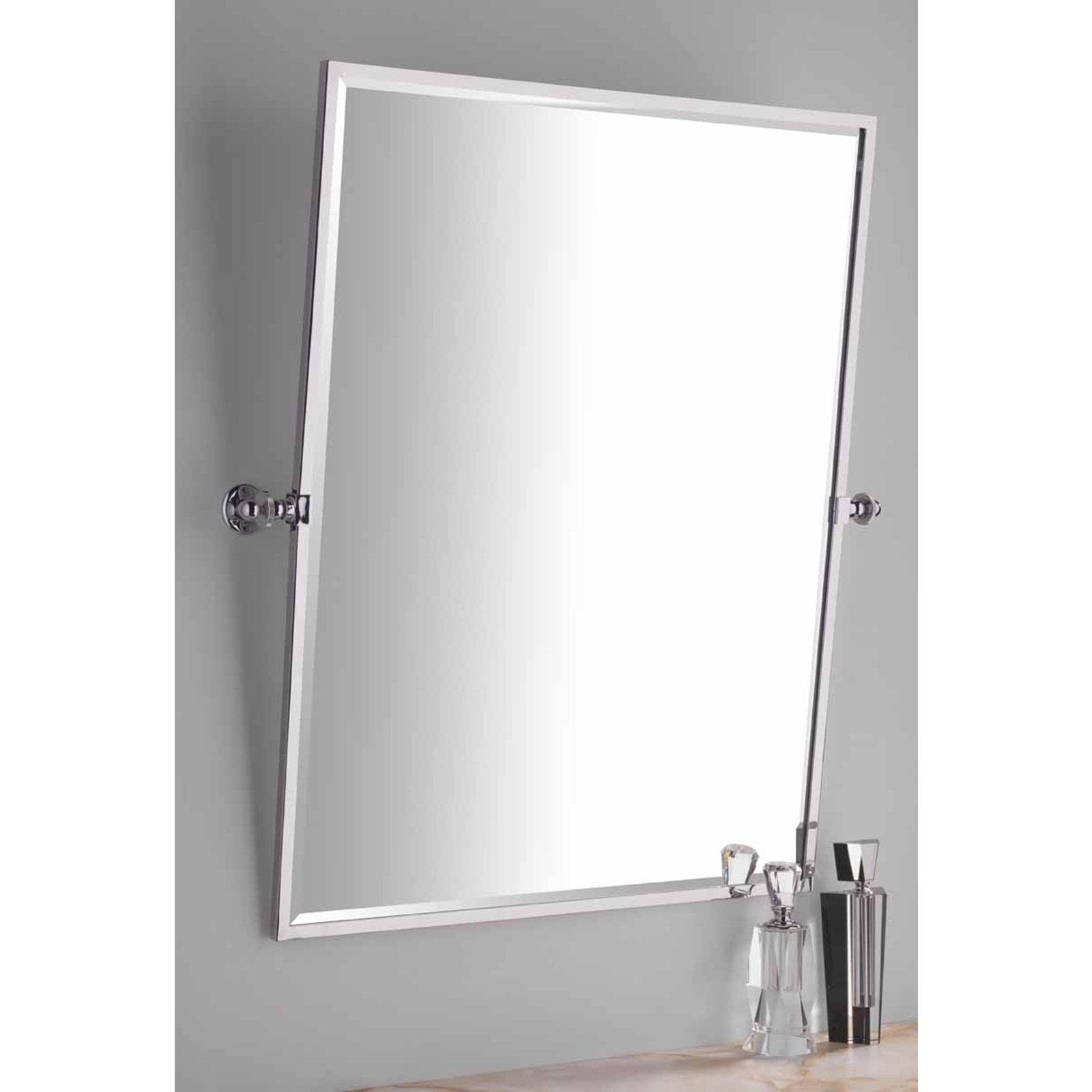 Permalink to Rectangle Chrome Bathroom Mirror