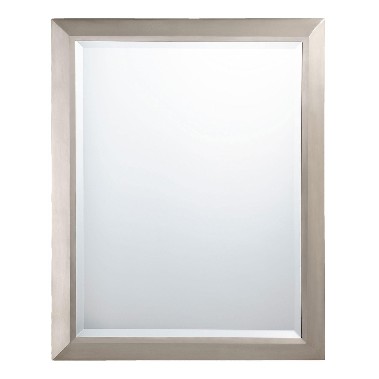 Rectangular Bathroom Mirror Brushed Nickel