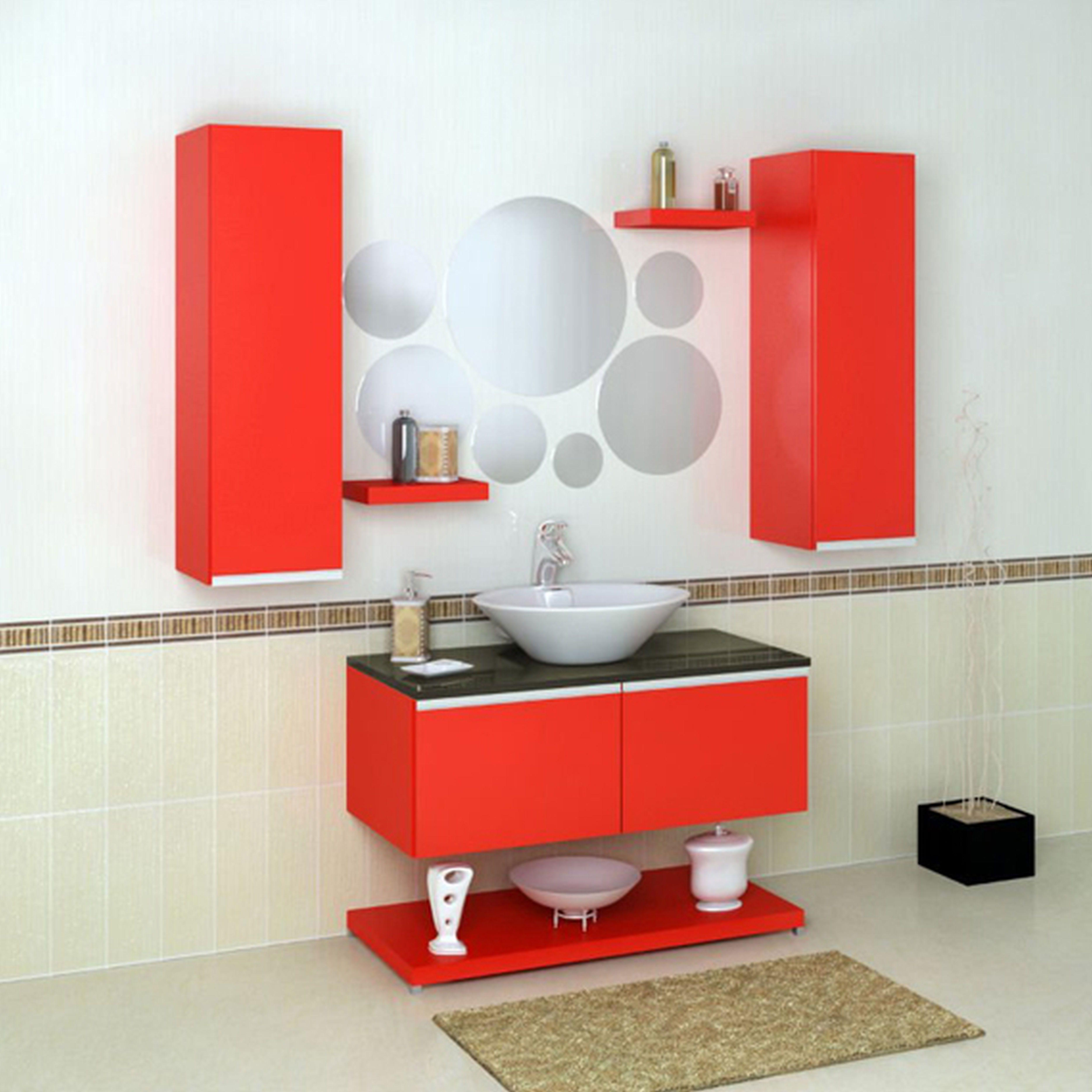 Red Bathroom Vanity Mirror