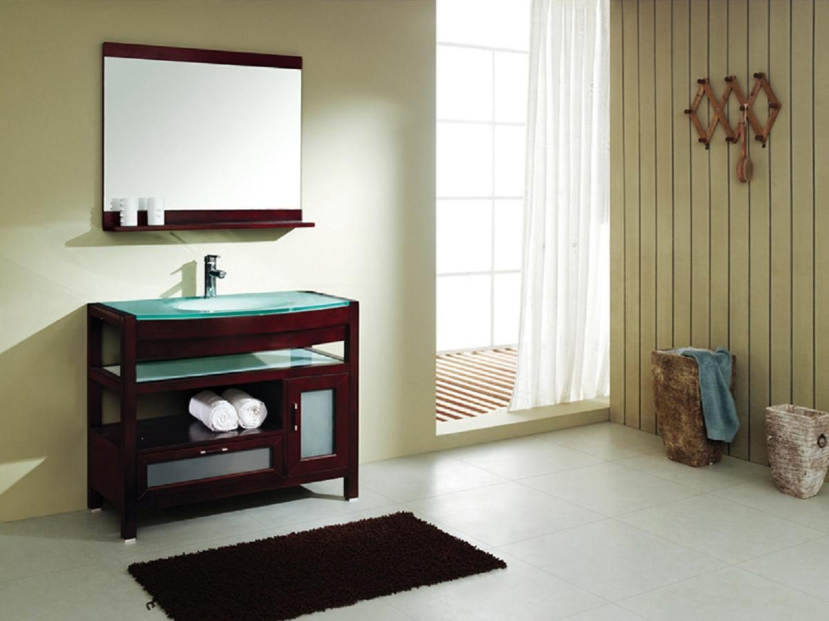 Red Mahogany Bathroom Mirror