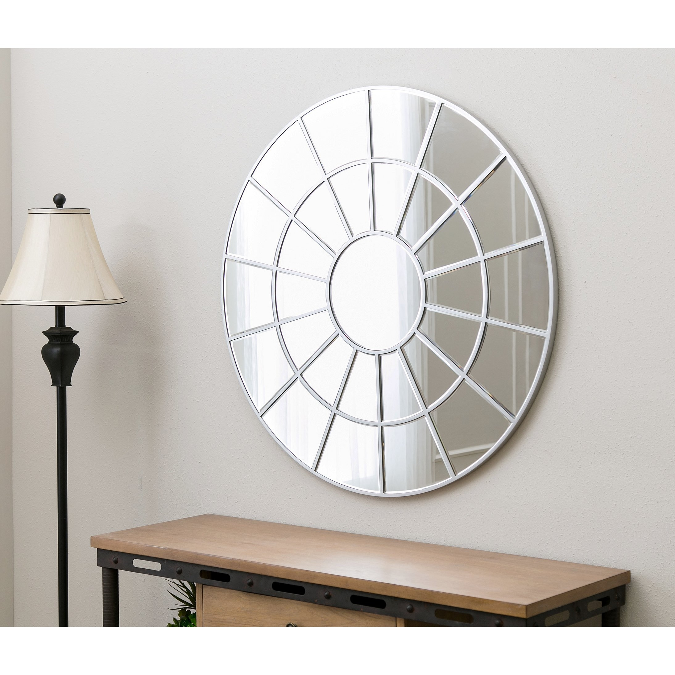 Red Round Wall Mirror