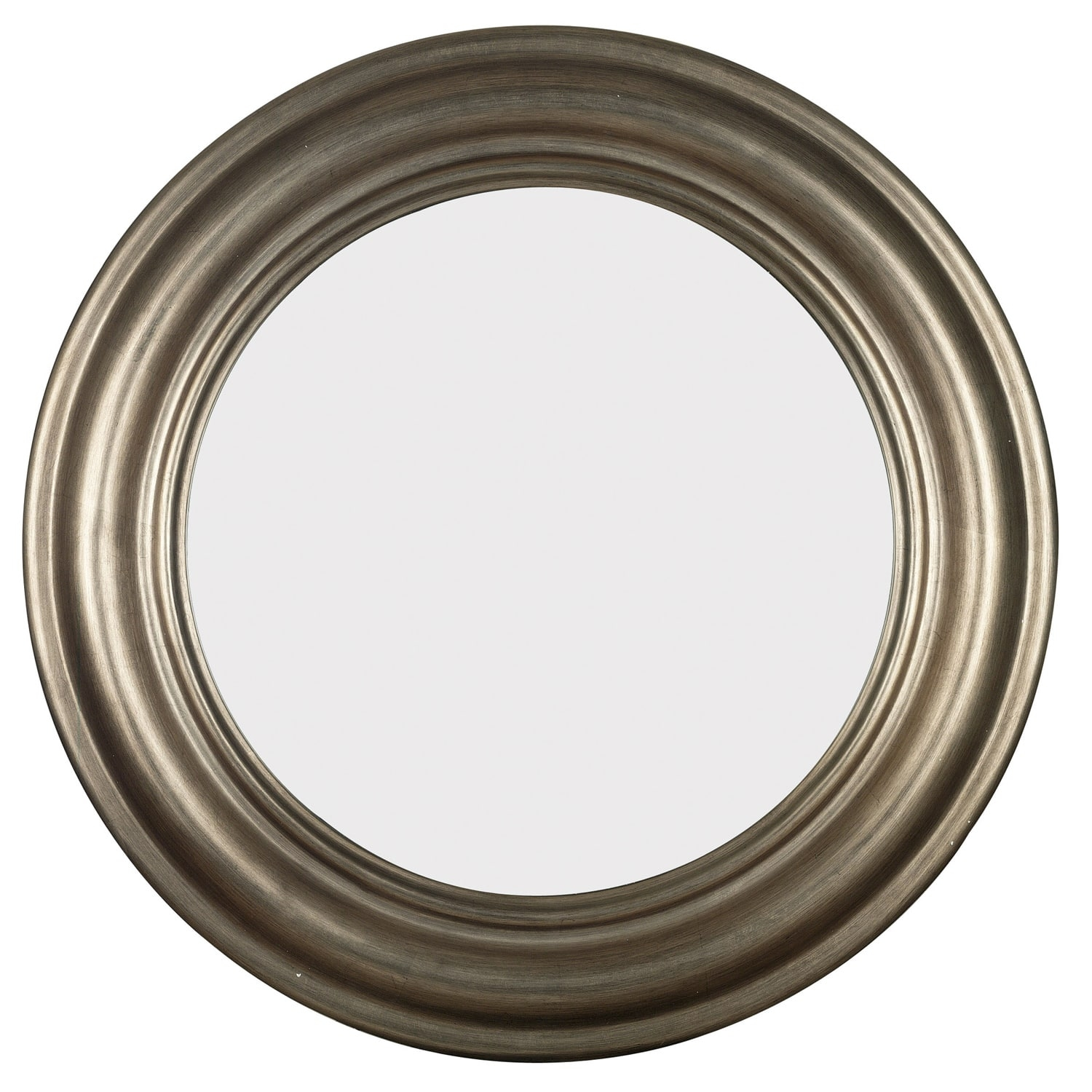 Permalink to Round Antique Silver Wall Mirror