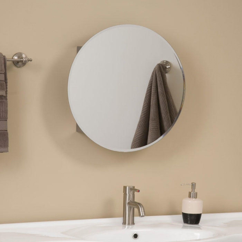 Round Bathroom Mirror Cabinet