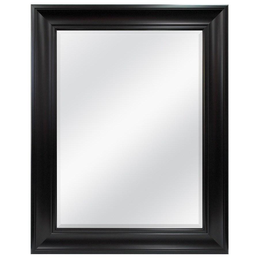 Round Espresso Wall Mirror