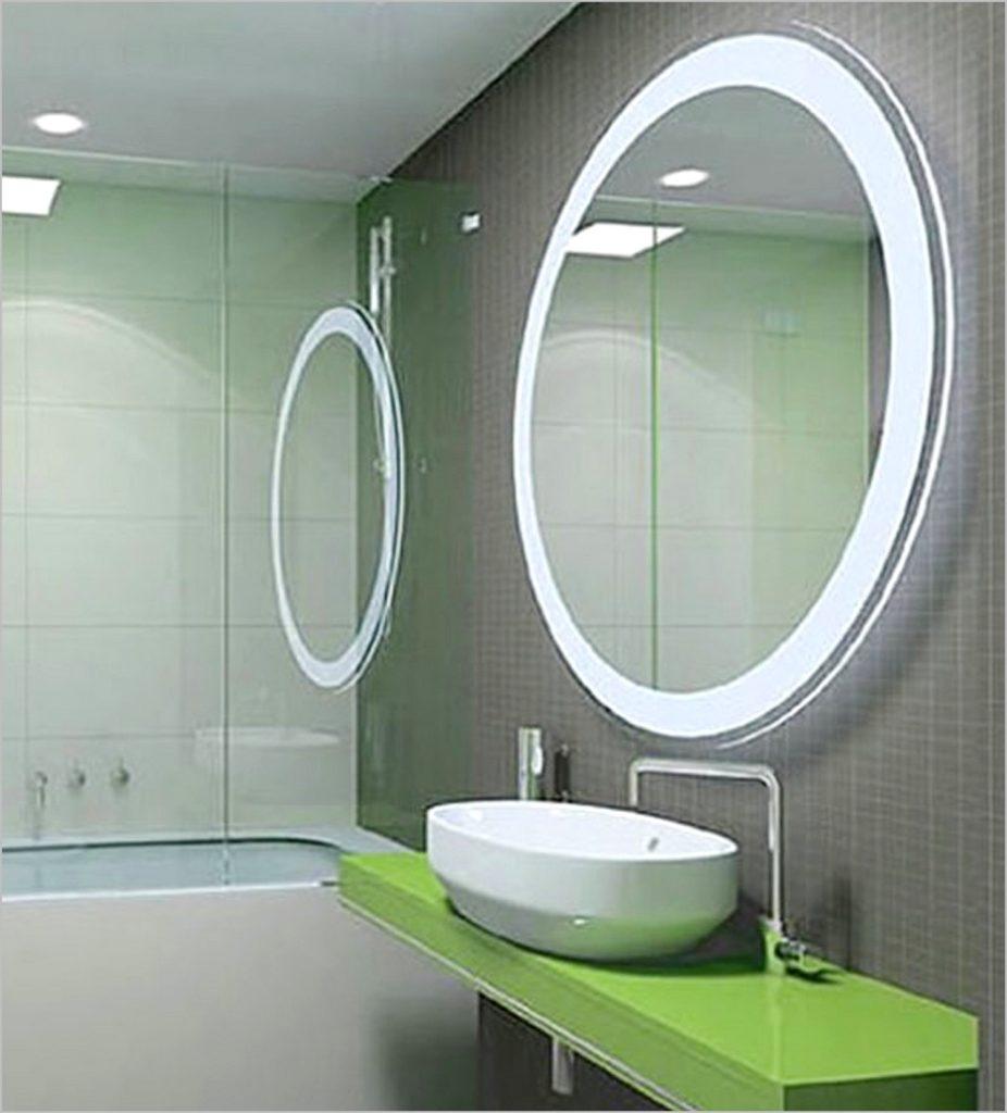 Round Light Up Bathroom Mirror