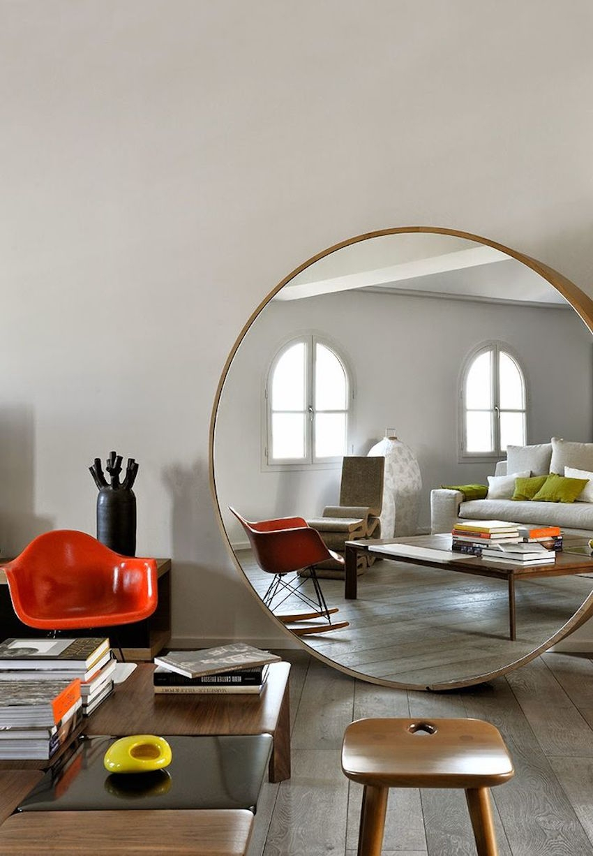 Round Orange Wall Mirror Round Orange Wall Mirror 10 dazzling round wall mirrors to decorate your walls 850 X 1226