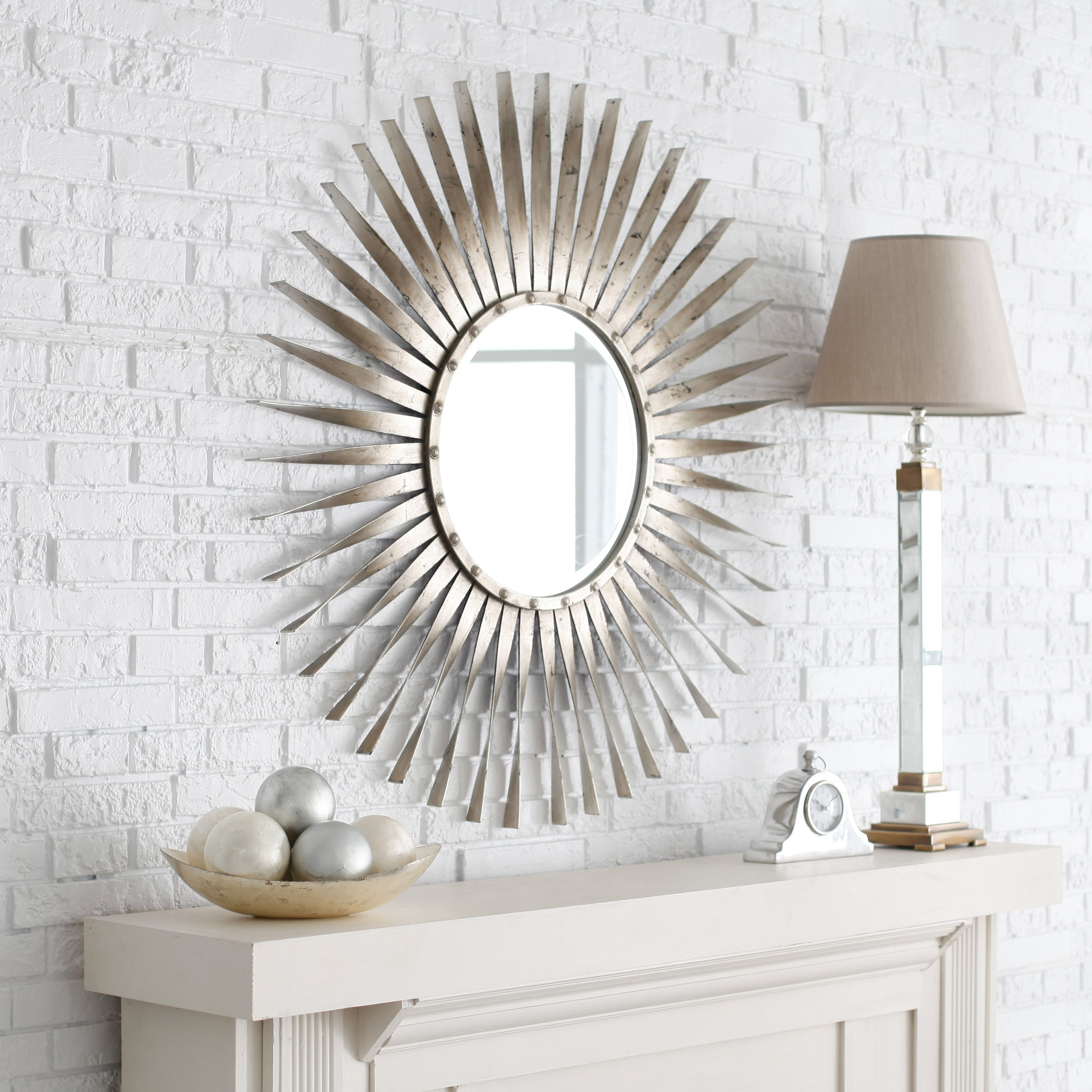 Round Stick On Wall Mirrors