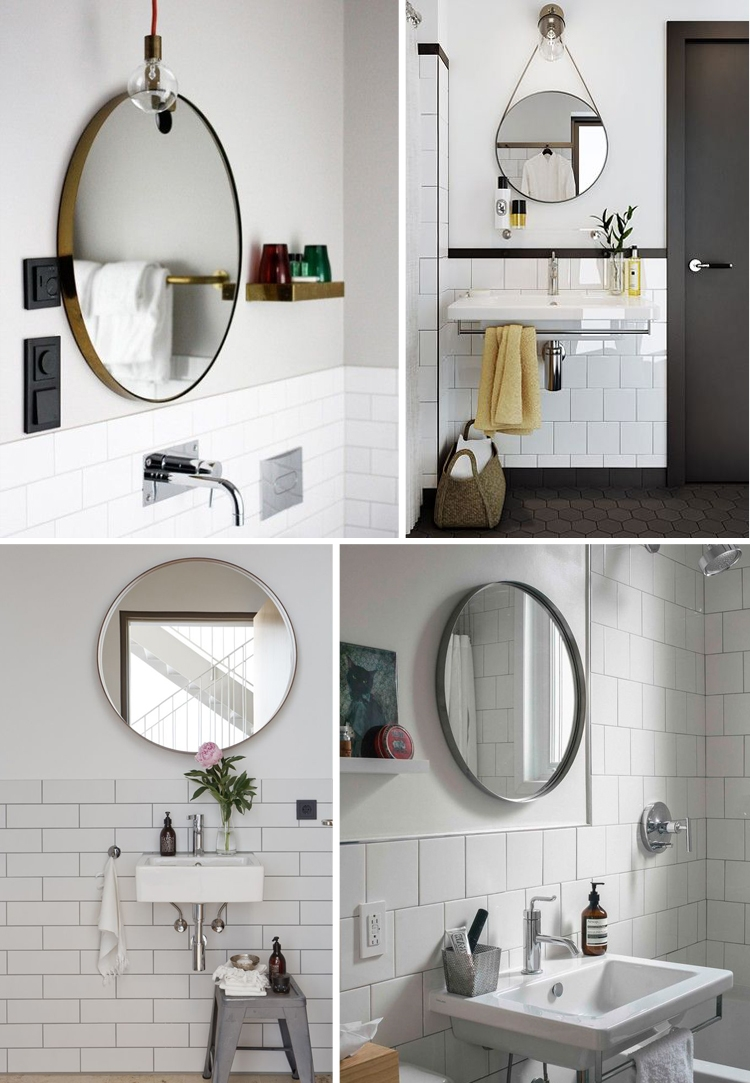 Round Swivel Bathroom Mirror