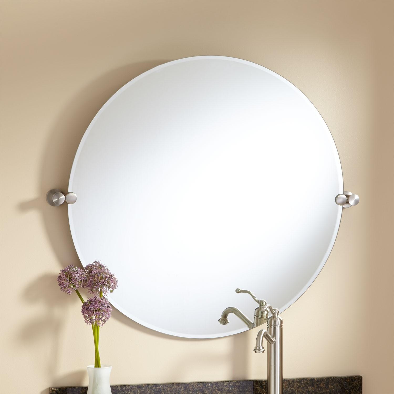 Round Tilt Bathroom Mirror