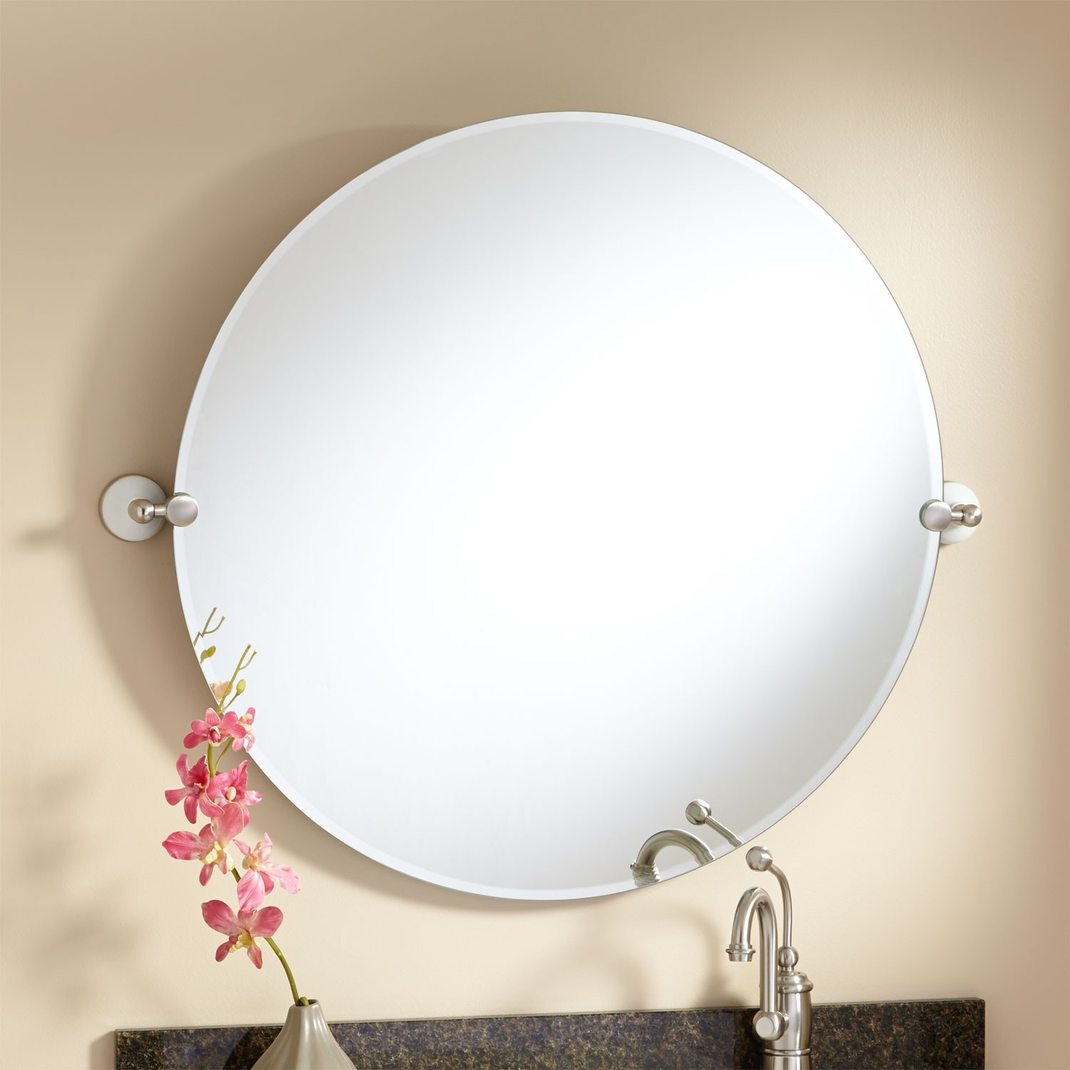 Round Tilting Wall Mirror