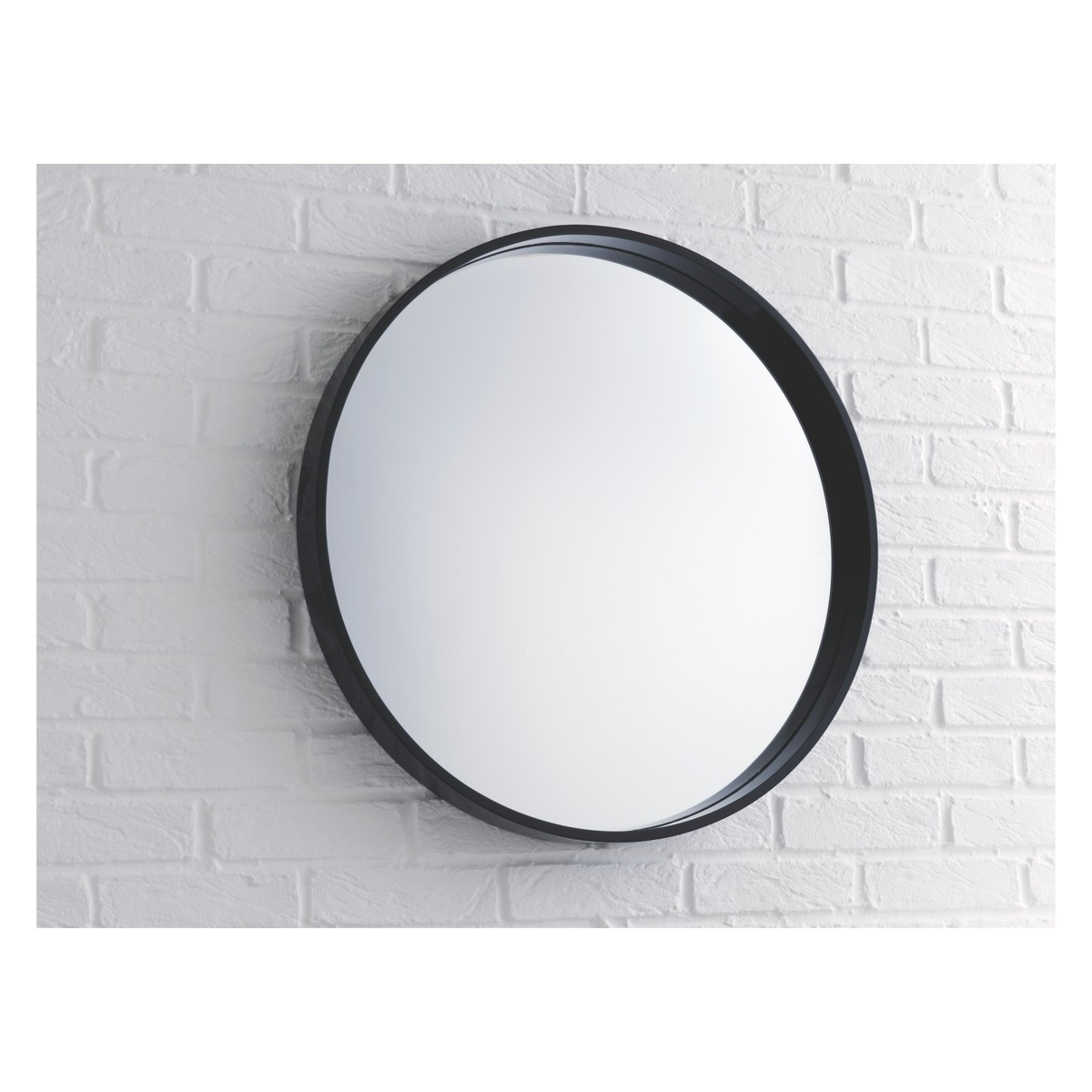 Round Wall Mirror Black Frame