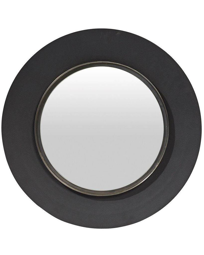 Round Wall Mirror Black