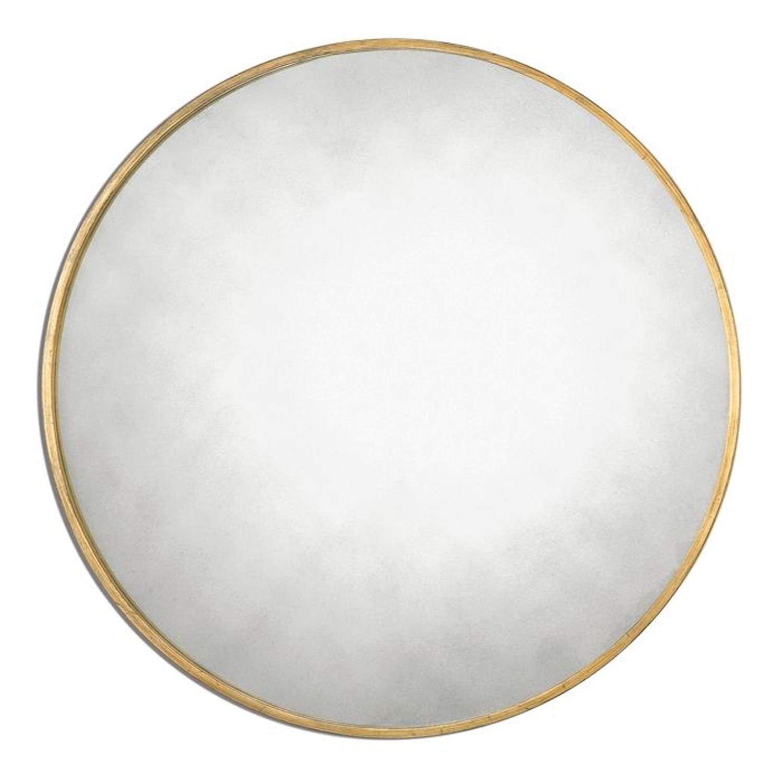 Round Wall Mirror Gold