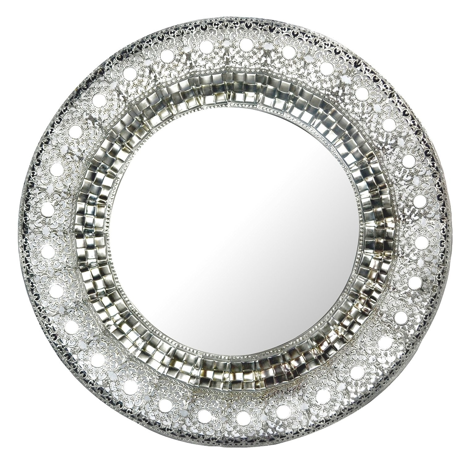 Round Wall Mirror Silver