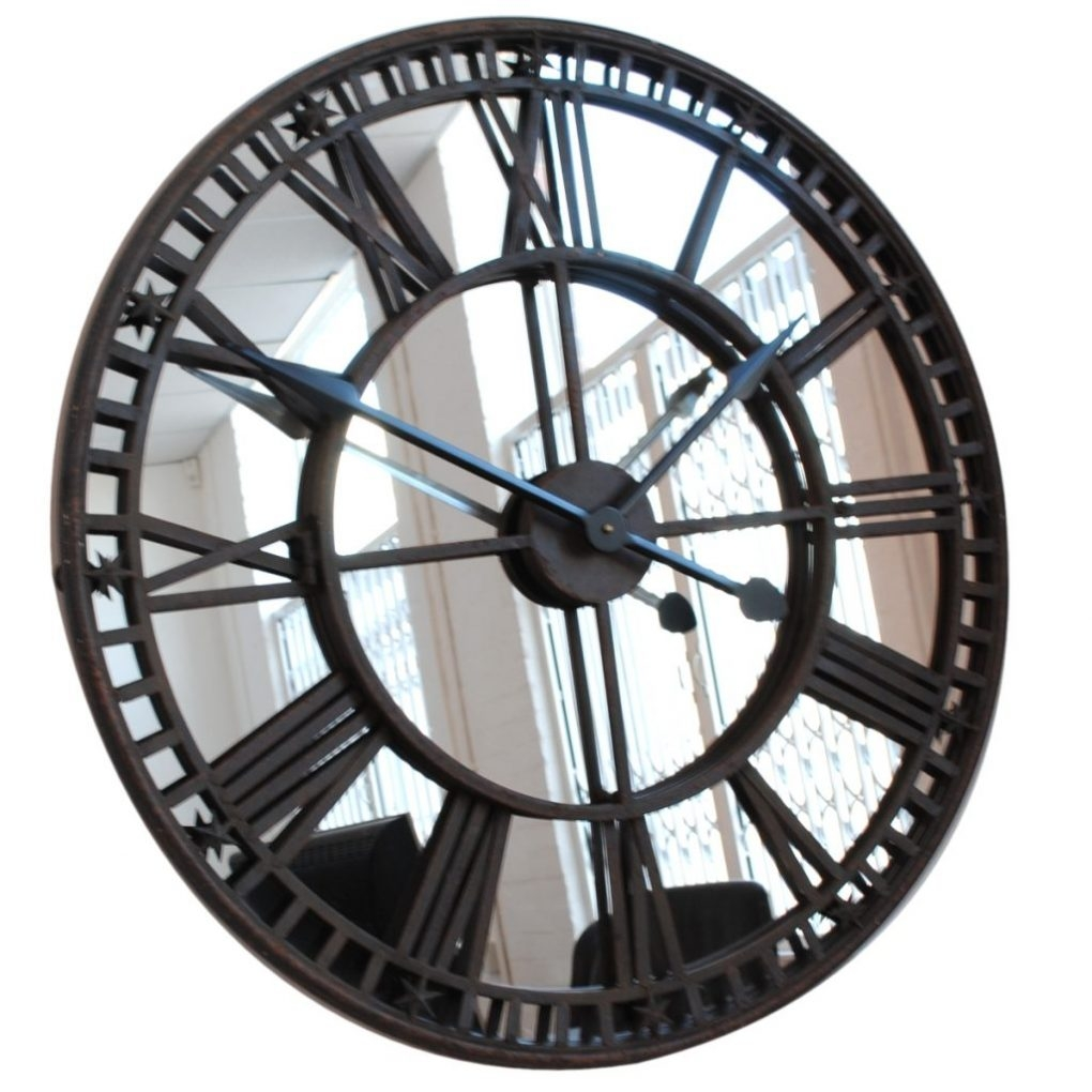 Rustic Mirrored Wall Clock