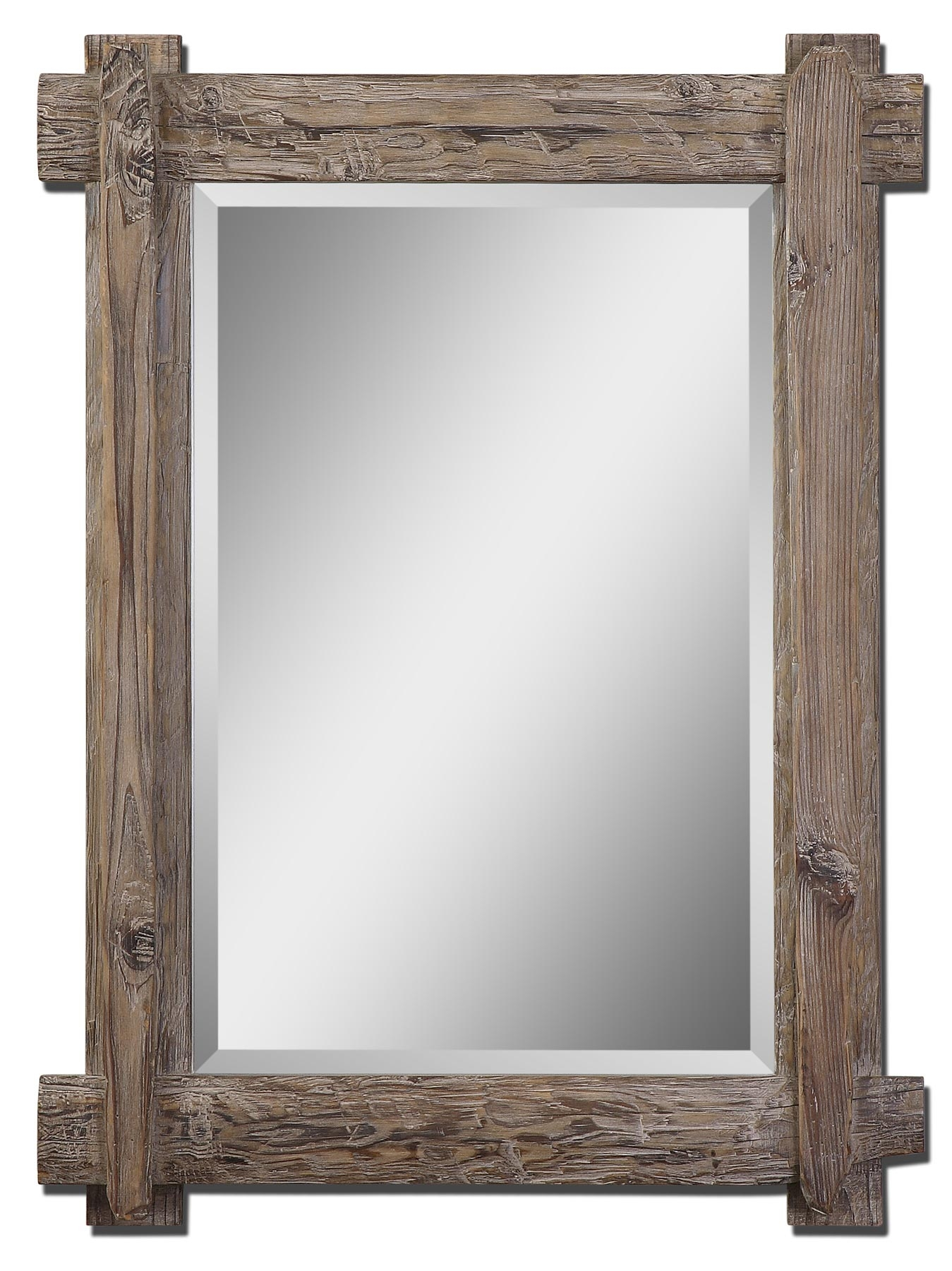 Rustic Wood Framed Wall Mirror