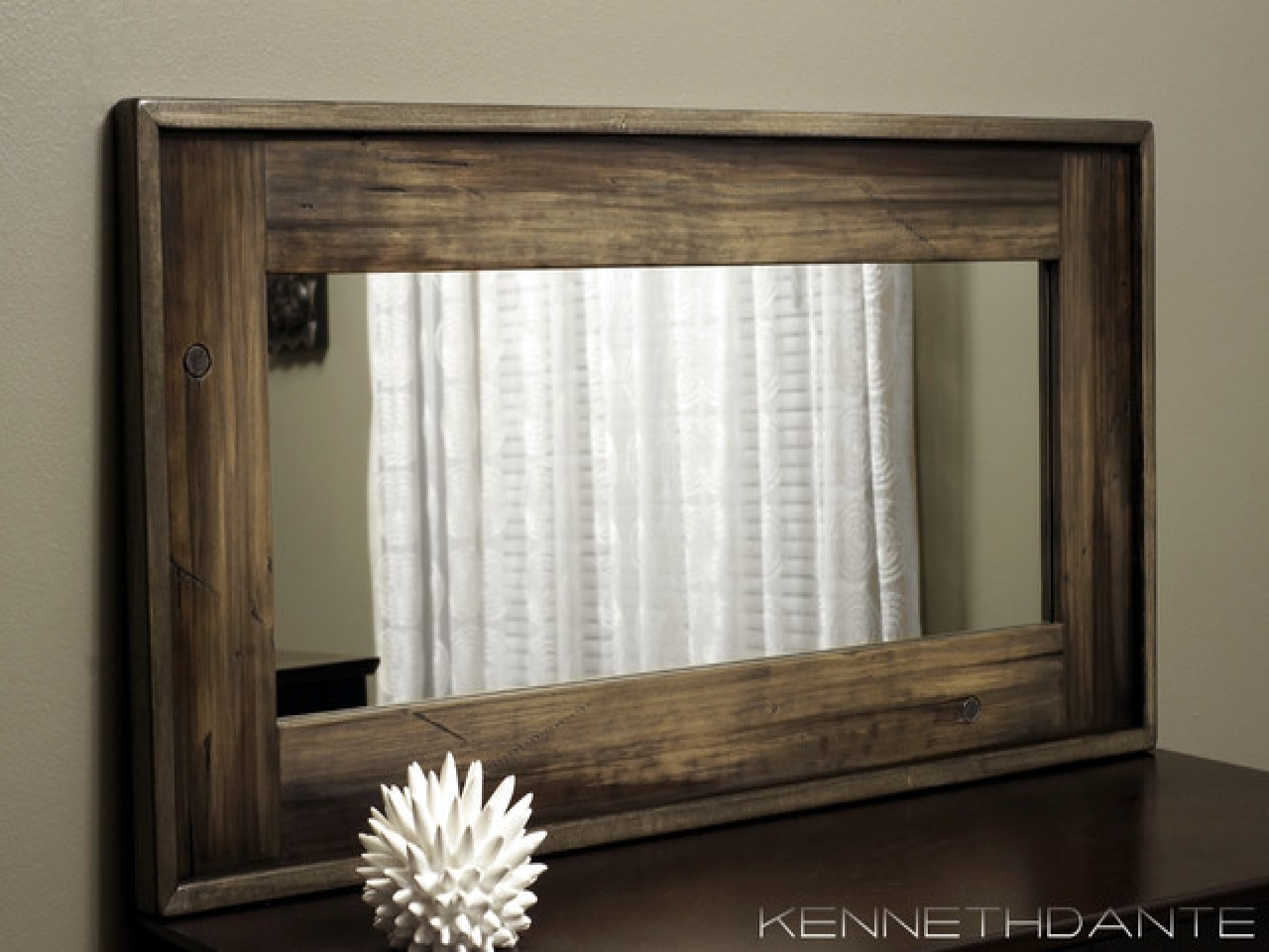 Rustic Wood Wall Mirror