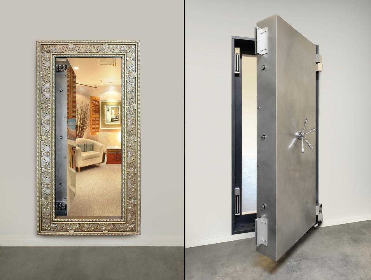 Secret Mirror Wall Safe