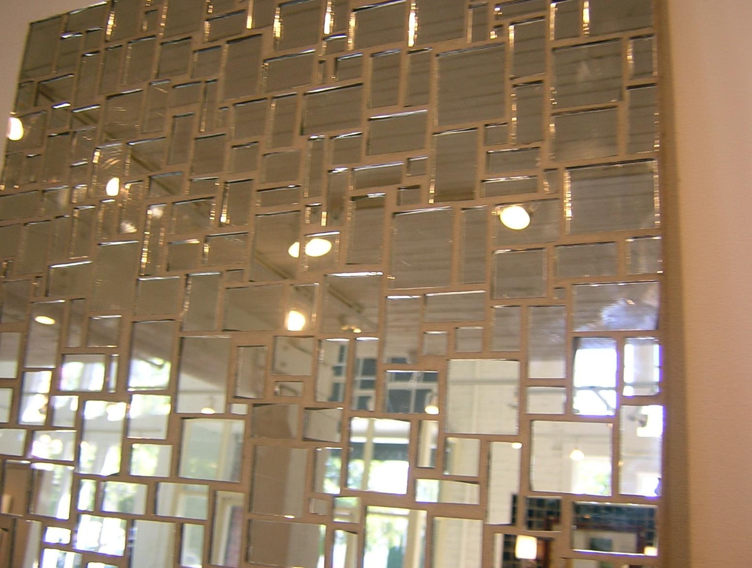 Self Stick Mirror Tiles Wall