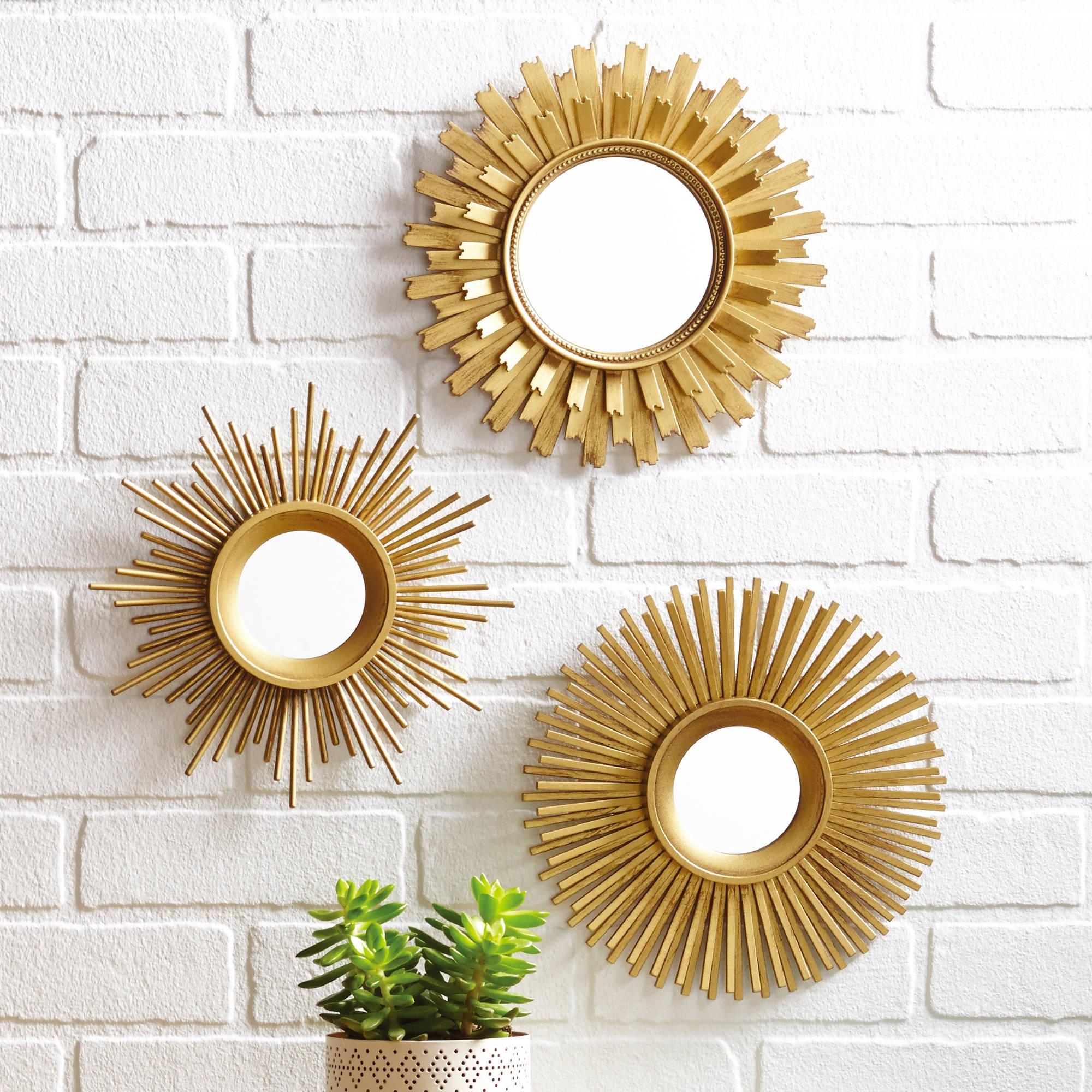 Set Of 3 Small Wall Mirrors