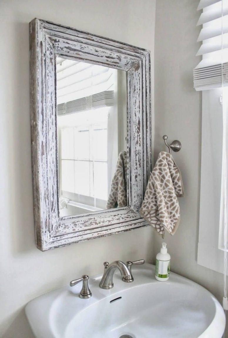 Shabby Chic Bathroom Mirror Cabinet