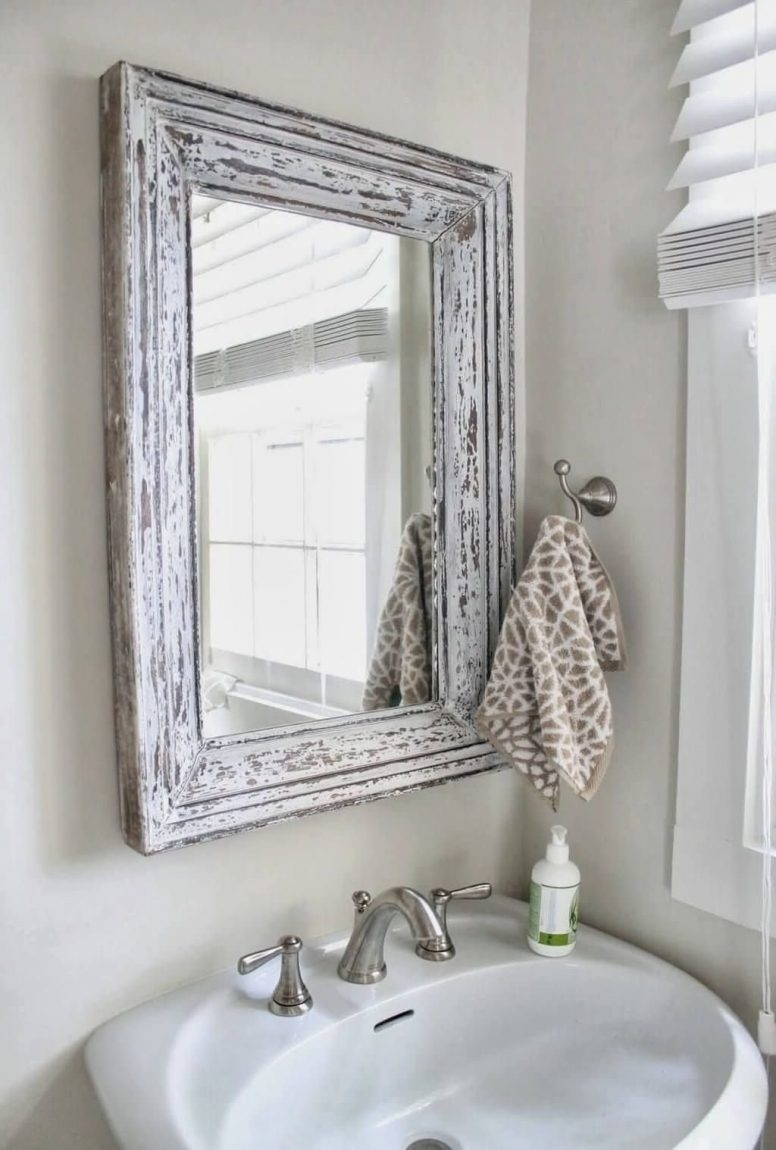 Shabby Chic Bathroom Wall Mirror