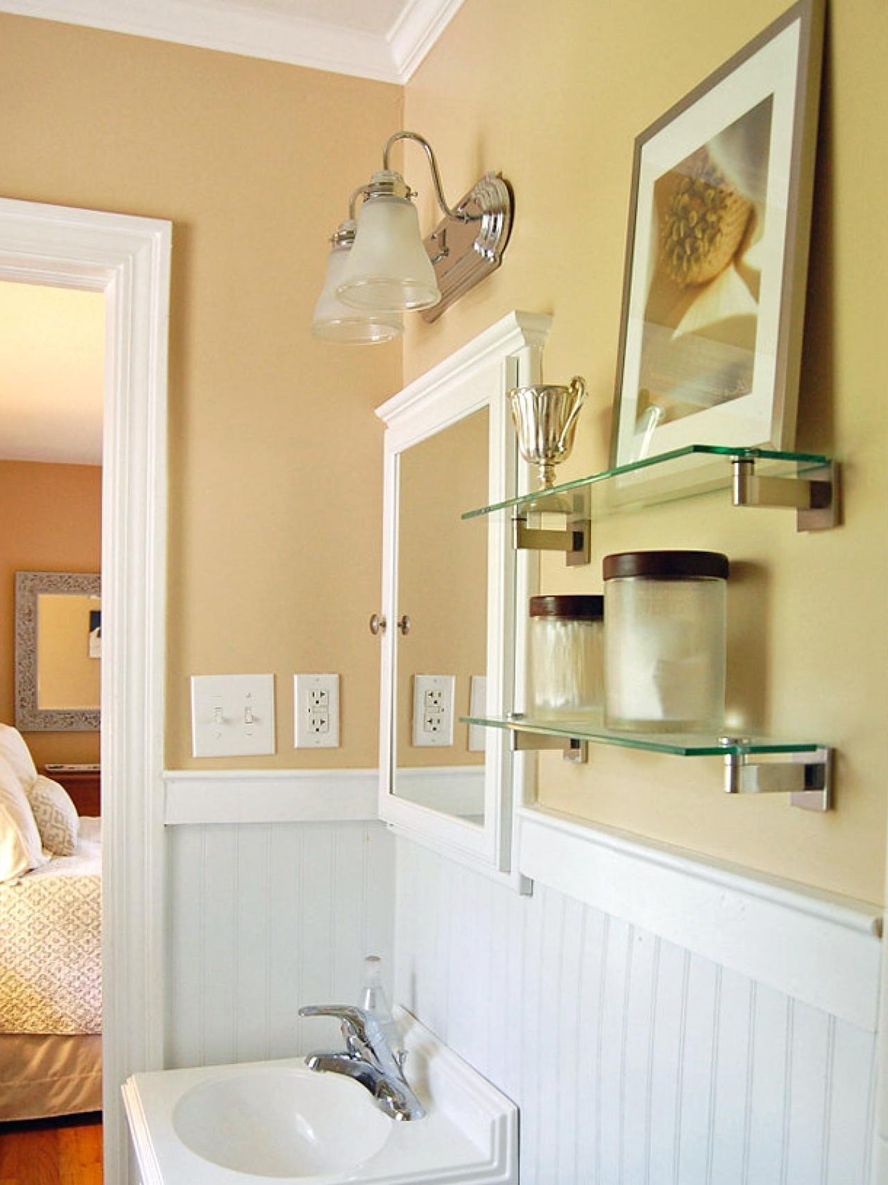 Shabby Chic Wall Mirror With Shelf