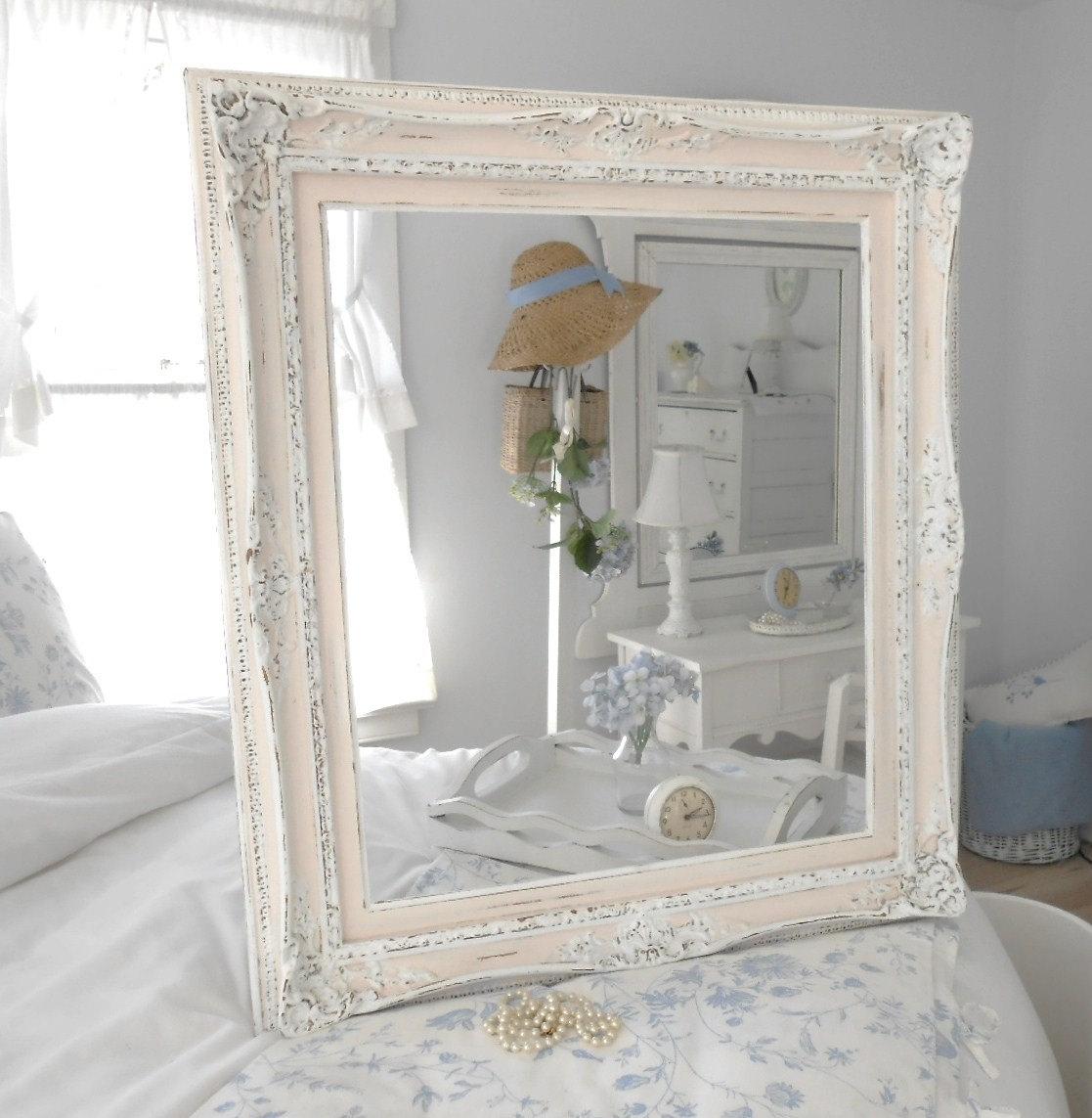 Shabby Chic White Bathroom Mirror1117 X 1143