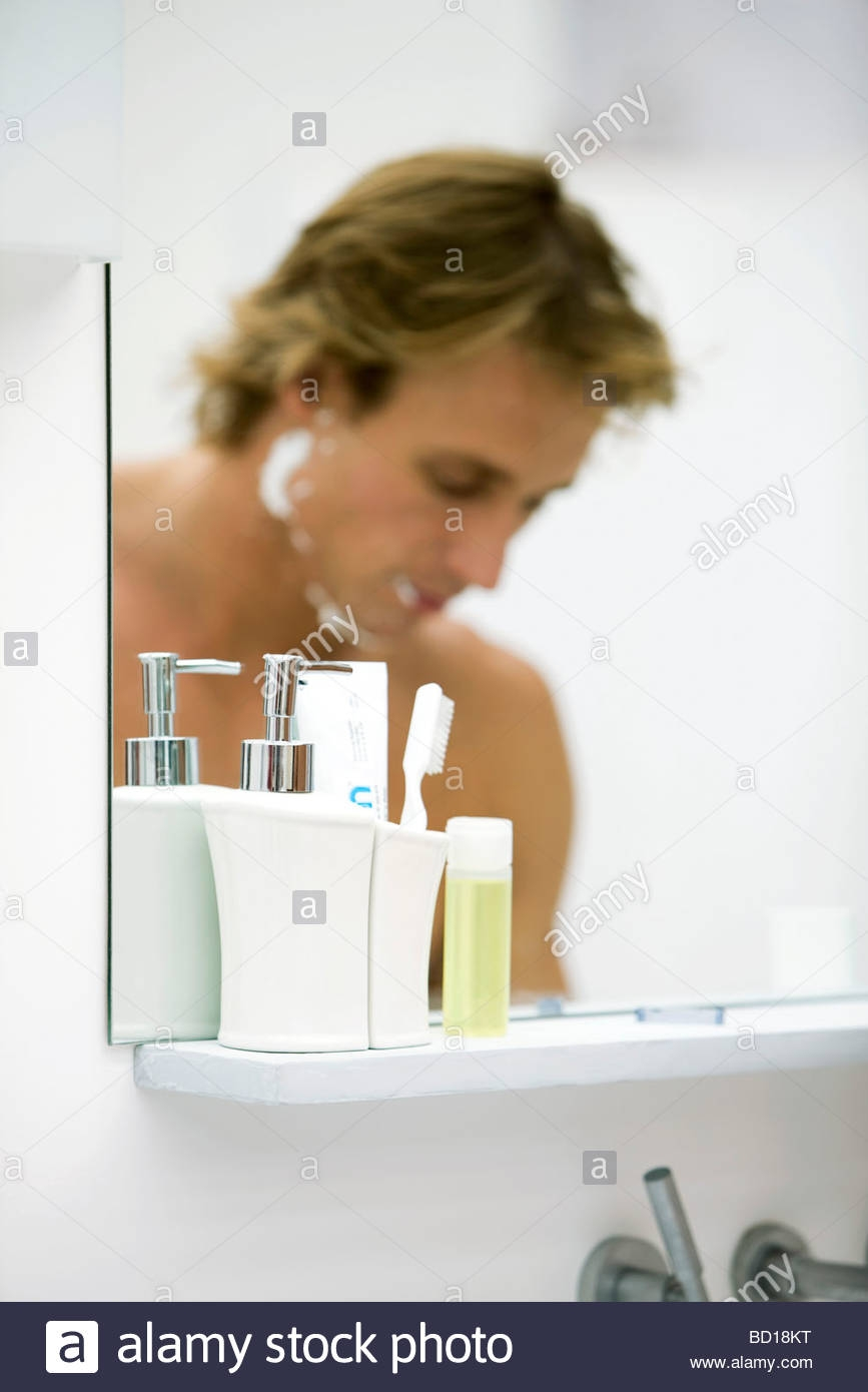 Shaving Cream Bathroom Mirror867 X 1390