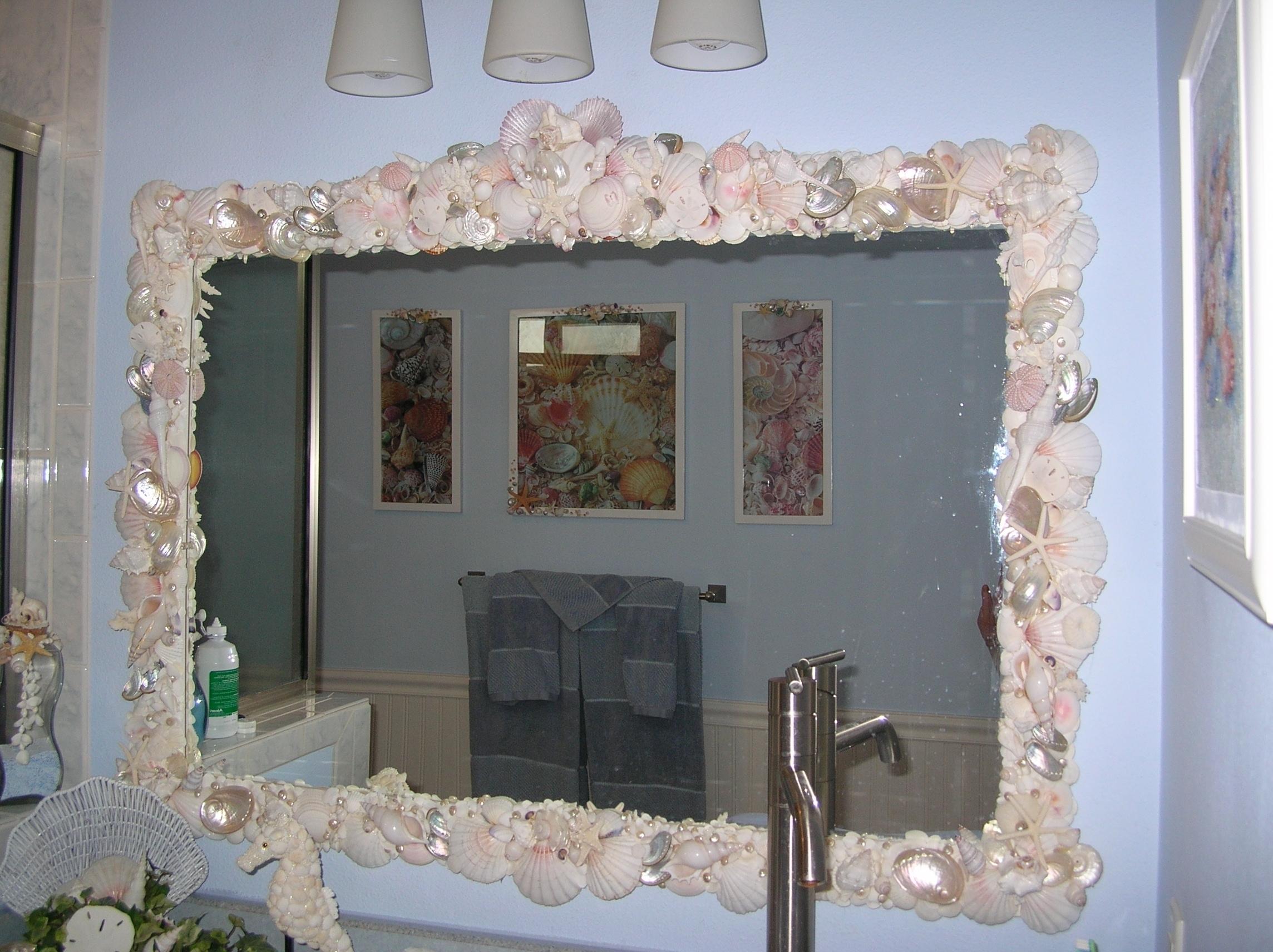 Shell Shaped Bathroom Mirror