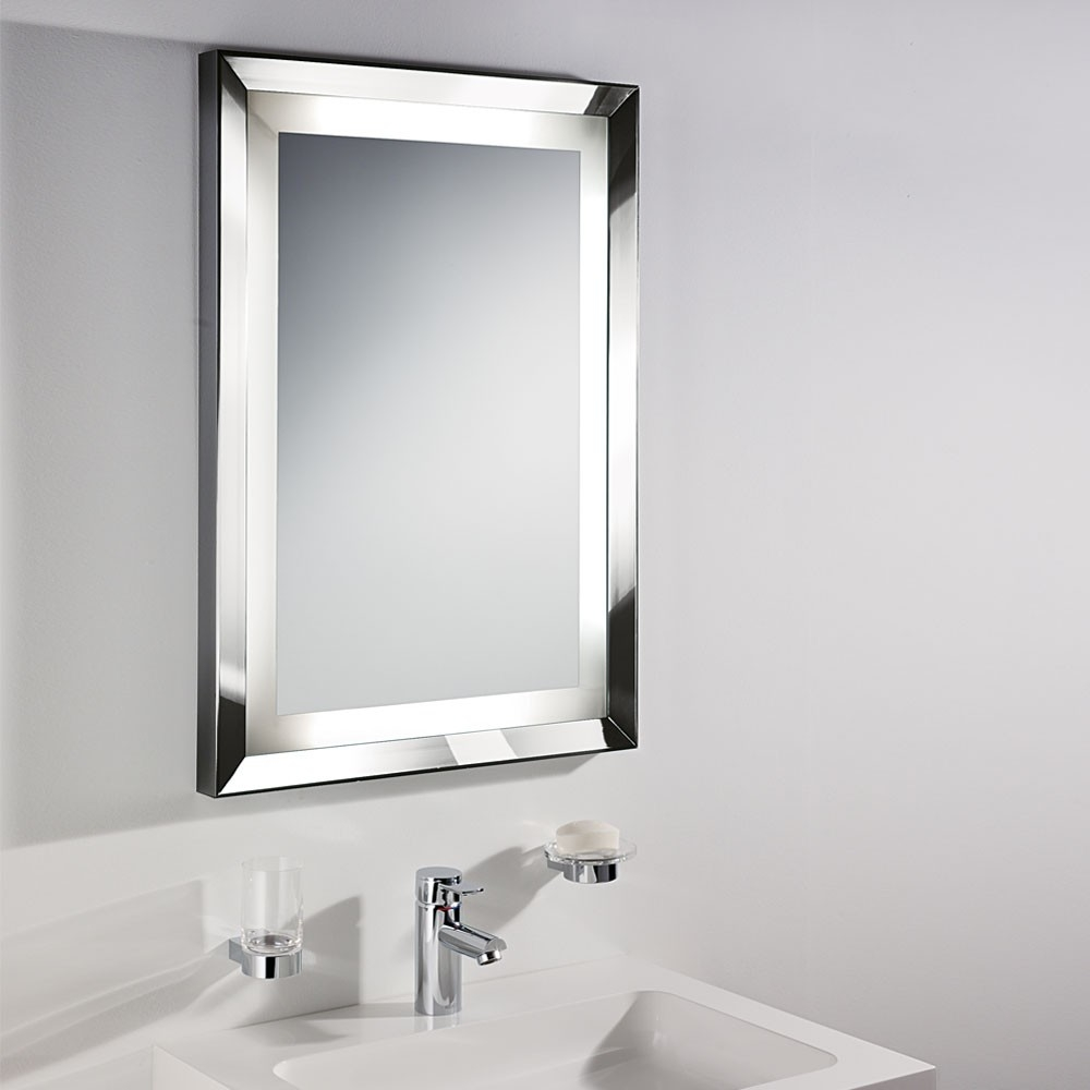 Silver Bathroom Mirror With Shelfbathroom mirrors for bathrooms in white themed bathroom with