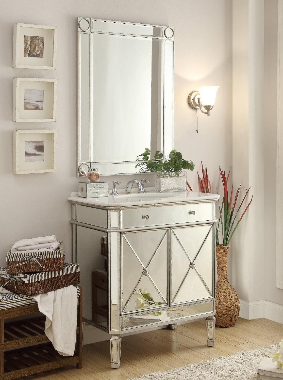 Silver Bathroom Vanity Mirrors