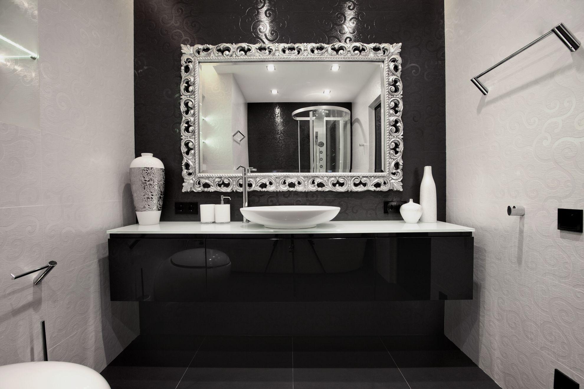 Silver Framed Mirror For Bathroom